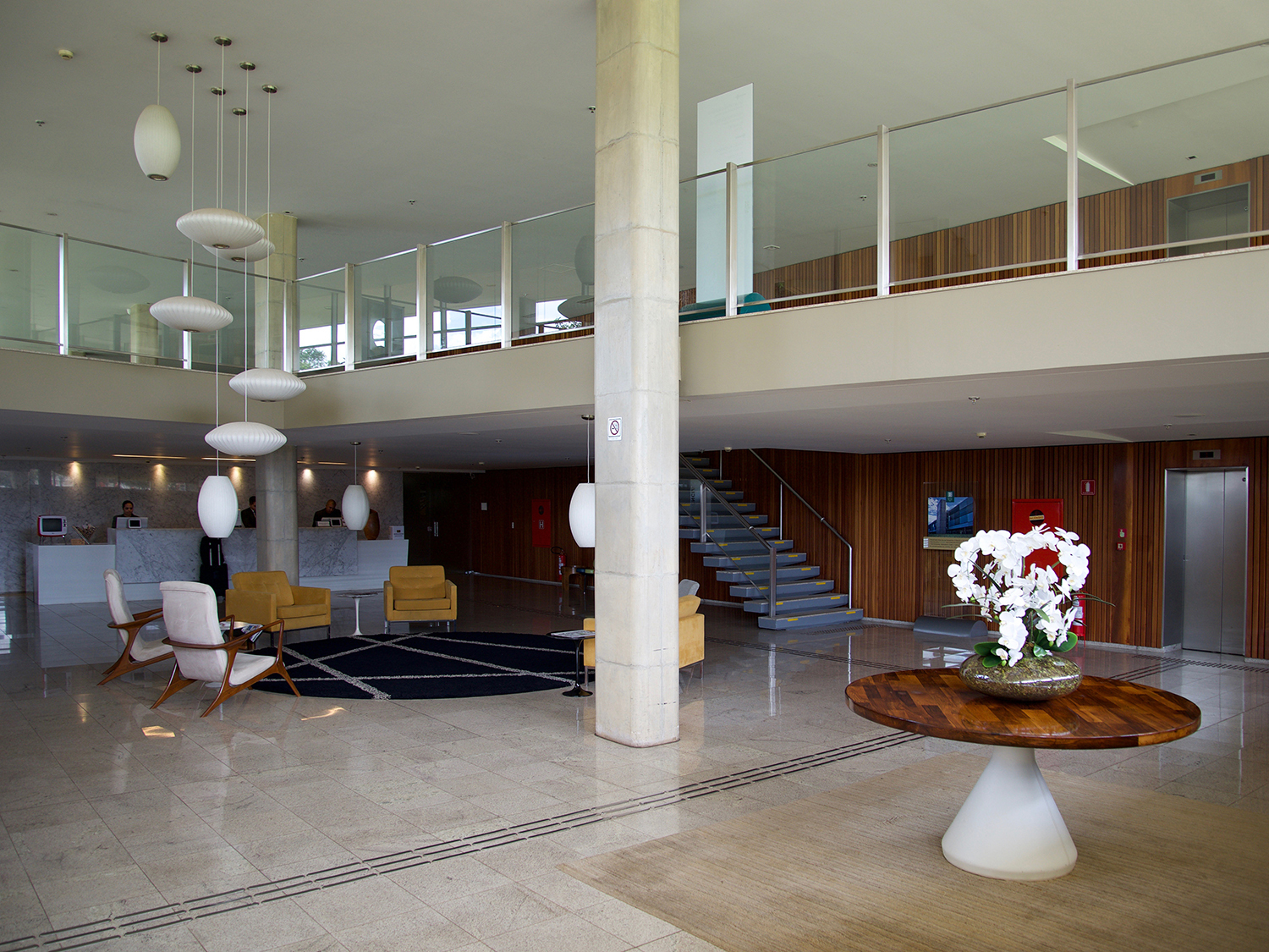 94a370cbddc6c0 ... Brasília Palace Hotel by Oscar Niemeyer is located directly on the  Paranoá dam. © Carsten Krohn. To the annoyance of the architect  the new  ramp in the ...