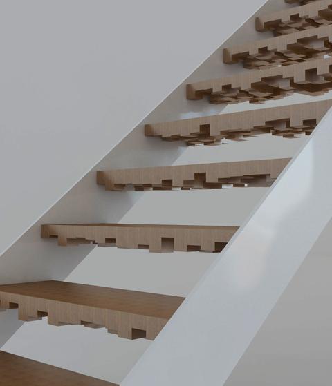 schwarze treppe aus carbon | stylepark,