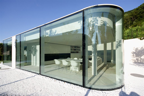 glass pavilion in the ticino by jm architecture milan stylepark. Black Bedroom Furniture Sets. Home Design Ideas