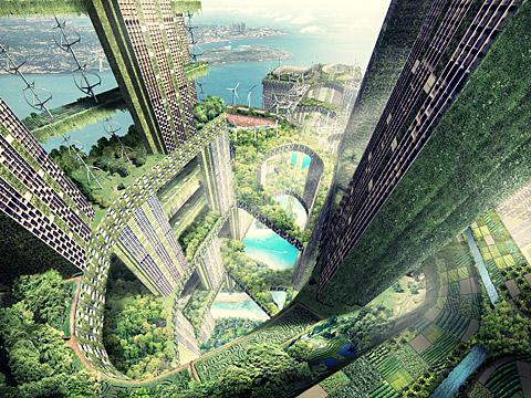 Permeable Architektur Rendering C Obilia