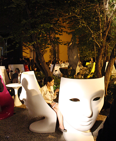 Masked Ball At Driade With Armchair U201eNemou201c By Fabio Novembre