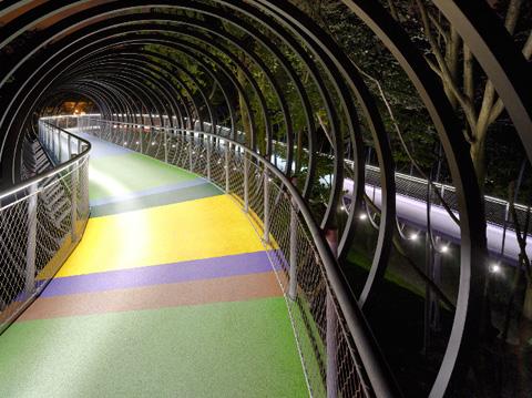 Pedestrian bridge by tobias rehberger and schlaich for Salone del mobile wikipedia