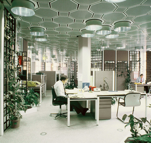 Interior design of the insurance company colonia versicherung ag in cologne 1984 86 photo quickborner team