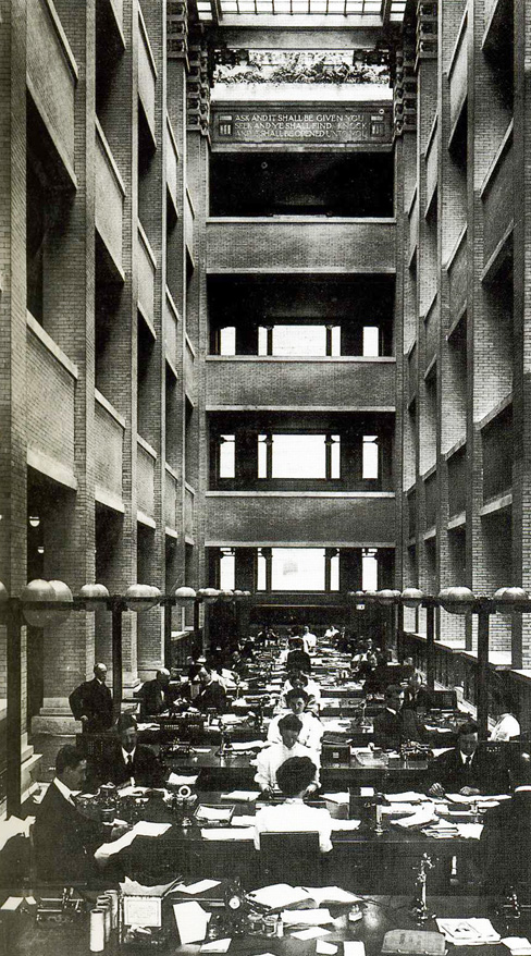 Larkin Building Frank Lloyd Wright How the office became ...