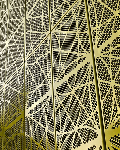 green perforated metal pattern - photo #11