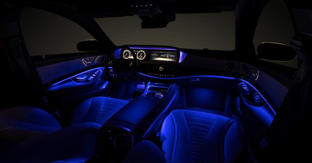 New Car Model Lights At Night