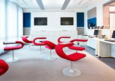 Colorful office amoebas