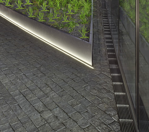 Clear lines for outdoor areas   STYLEPARK. Inground Linear Led Lighting. Home Design Ideas