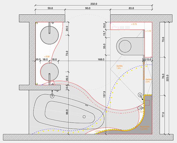 Badezimmer Grundriss Beispiele ? Bitmoon.info Badezimmer Grundriss Beispiele