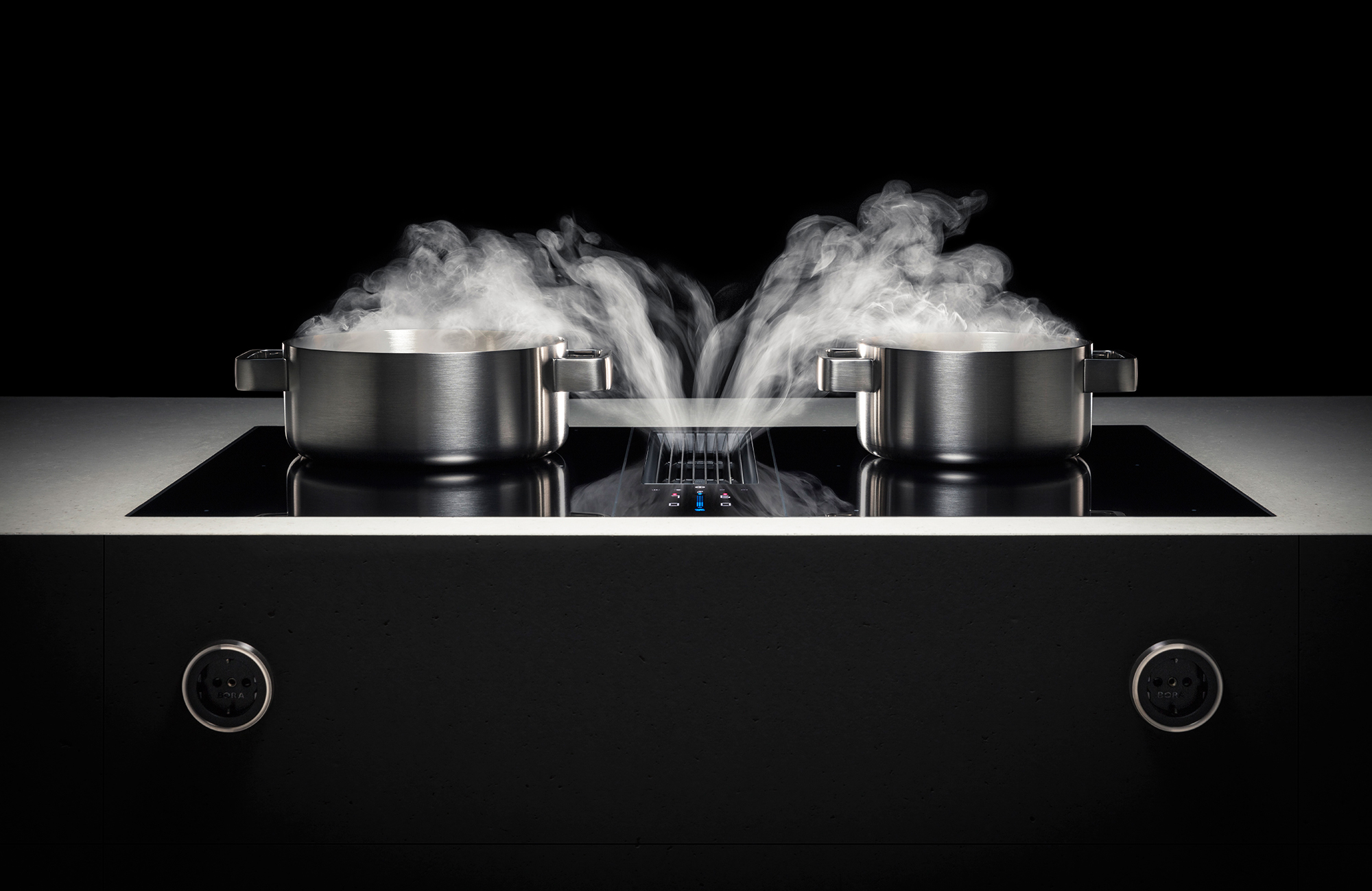 Bora Classic 2 0 Surface Induction Glass Ceramic Cooktop With 2 Cooking Zones By Bora Stylepark