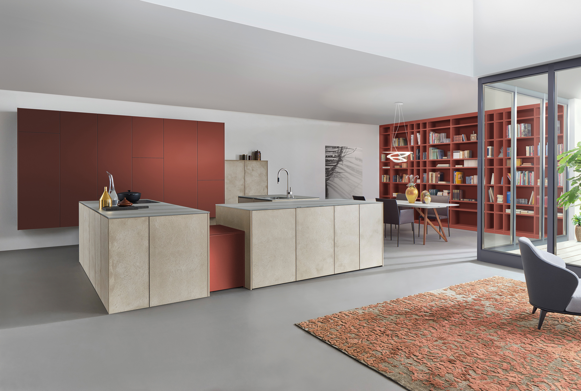 leicht les couleurs le corbusier by leicht k chen stylepark. Black Bedroom Furniture Sets. Home Design Ideas