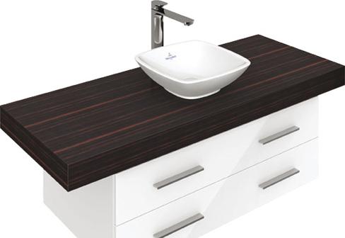 aufsatzwaschtisch quadratisch loop friends von villeroy. Black Bedroom Furniture Sets. Home Design Ideas