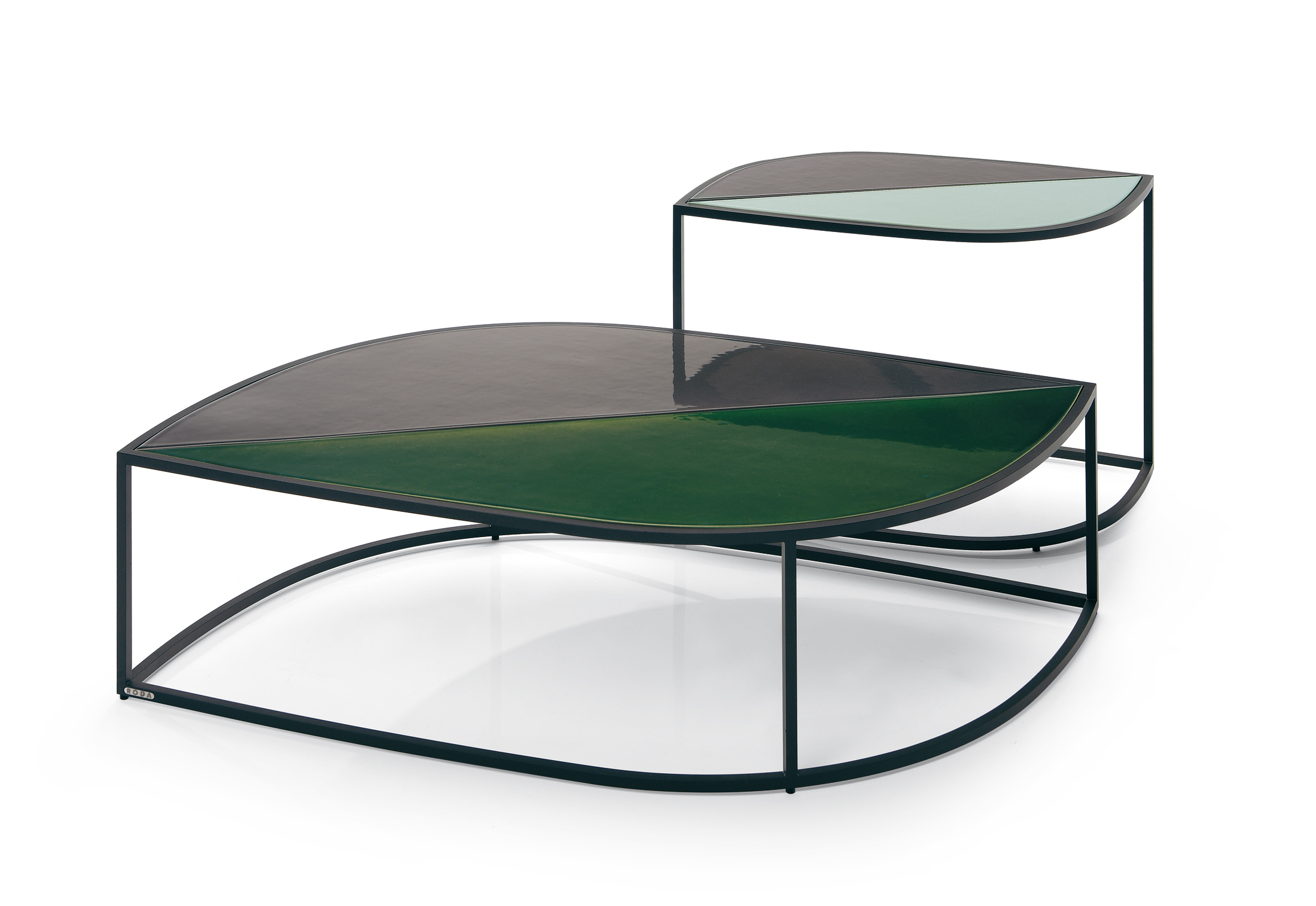 LEAF side and coffee tables by Roda