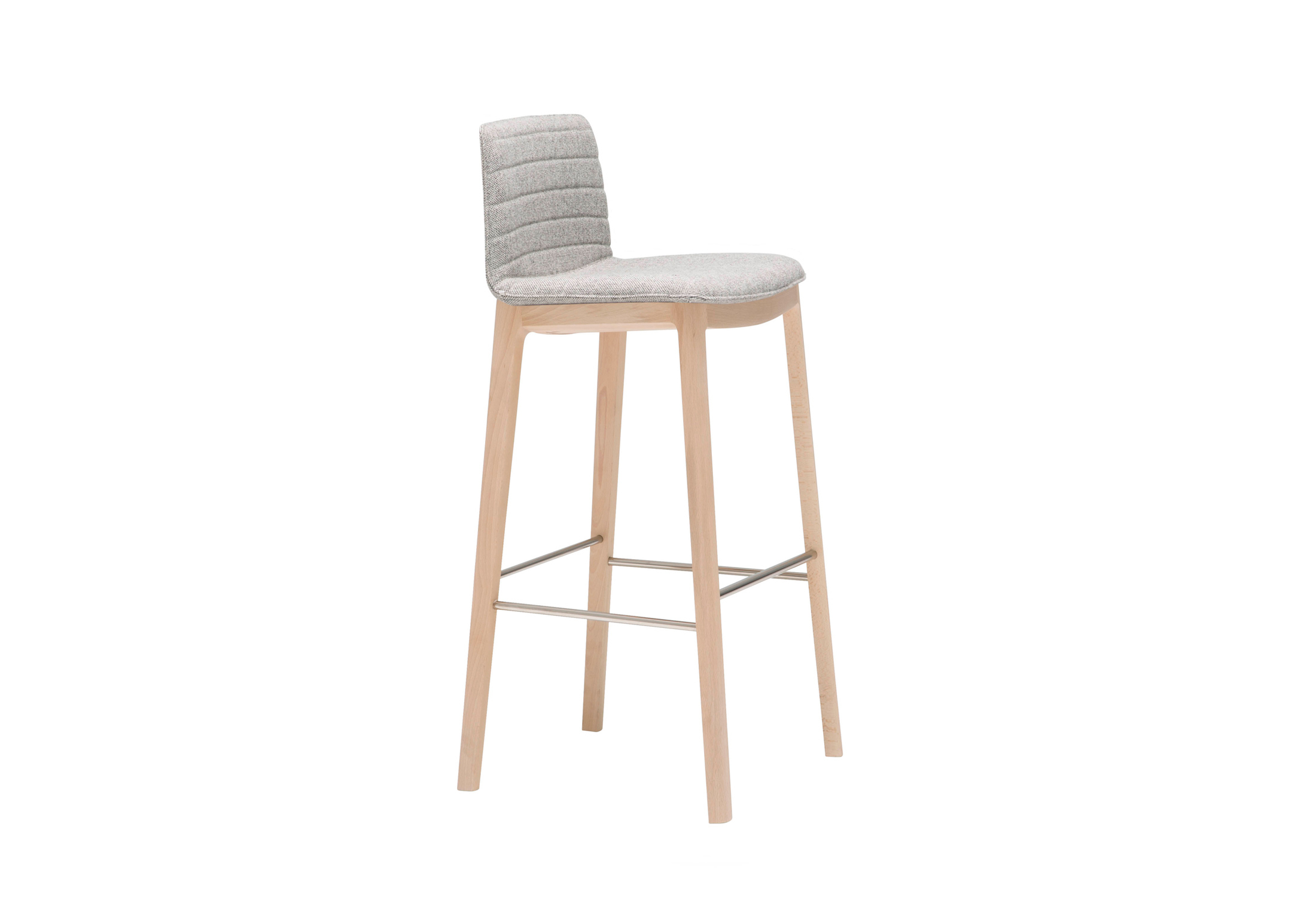 Flex Stool With Wood Base By Andreu World Stylepark