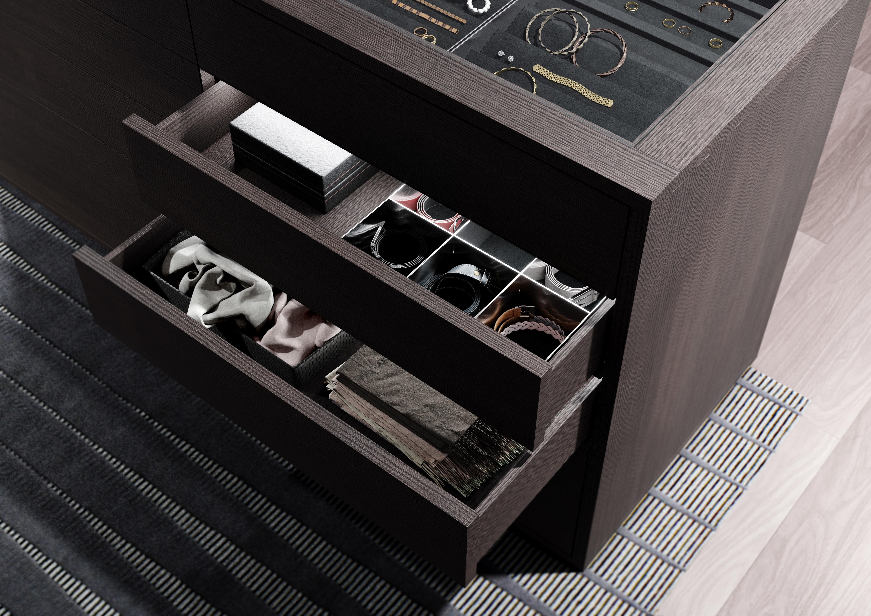 Walk In Wardrobe Interior Systems Uno And Legno Aluminium Frame
