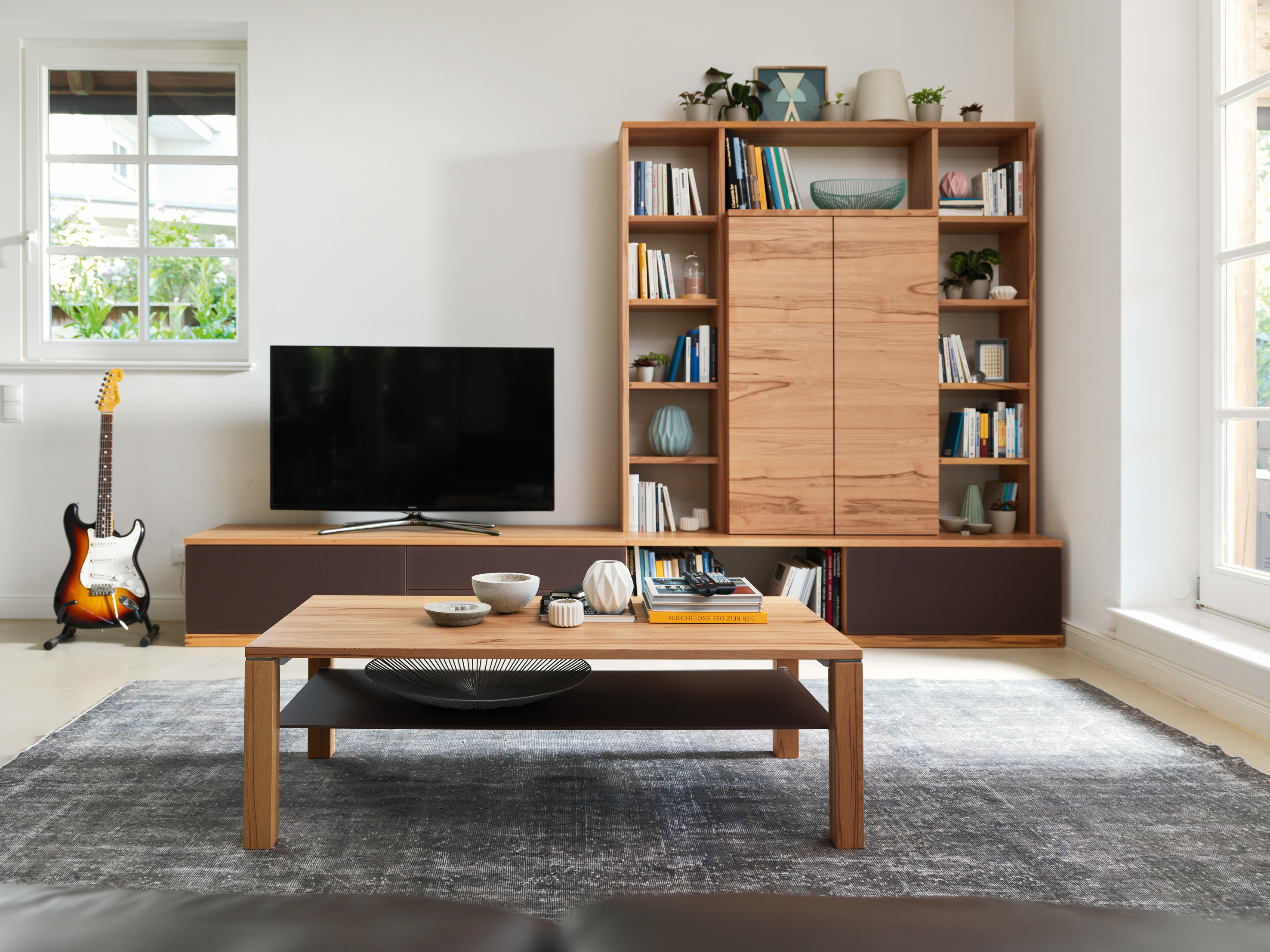 Design wohnwand straight  cubus wall unit by TEAM 7 | STYLEPARK