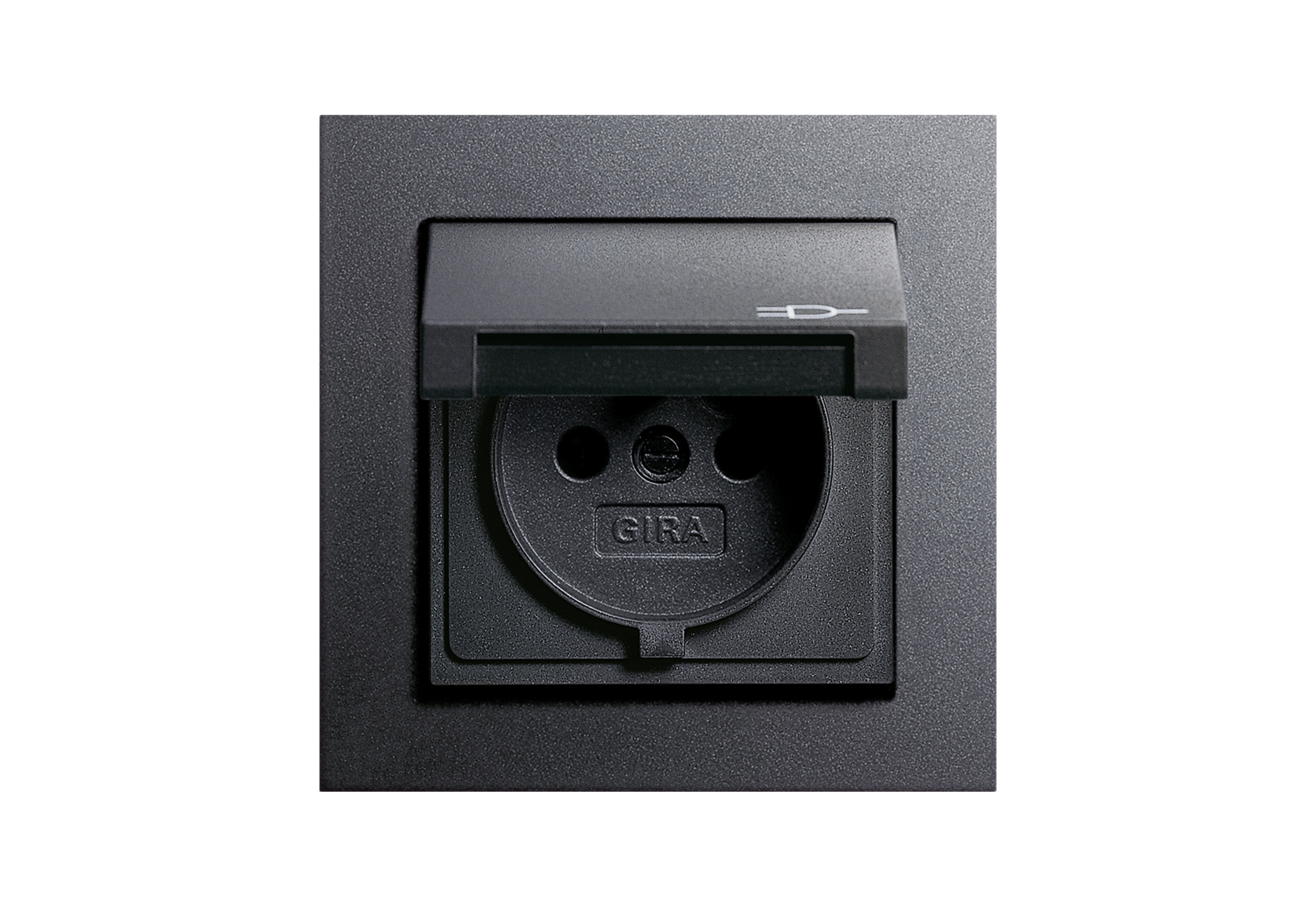 E2 Socket Outlet With Hinged Cover By Gira Stylepark