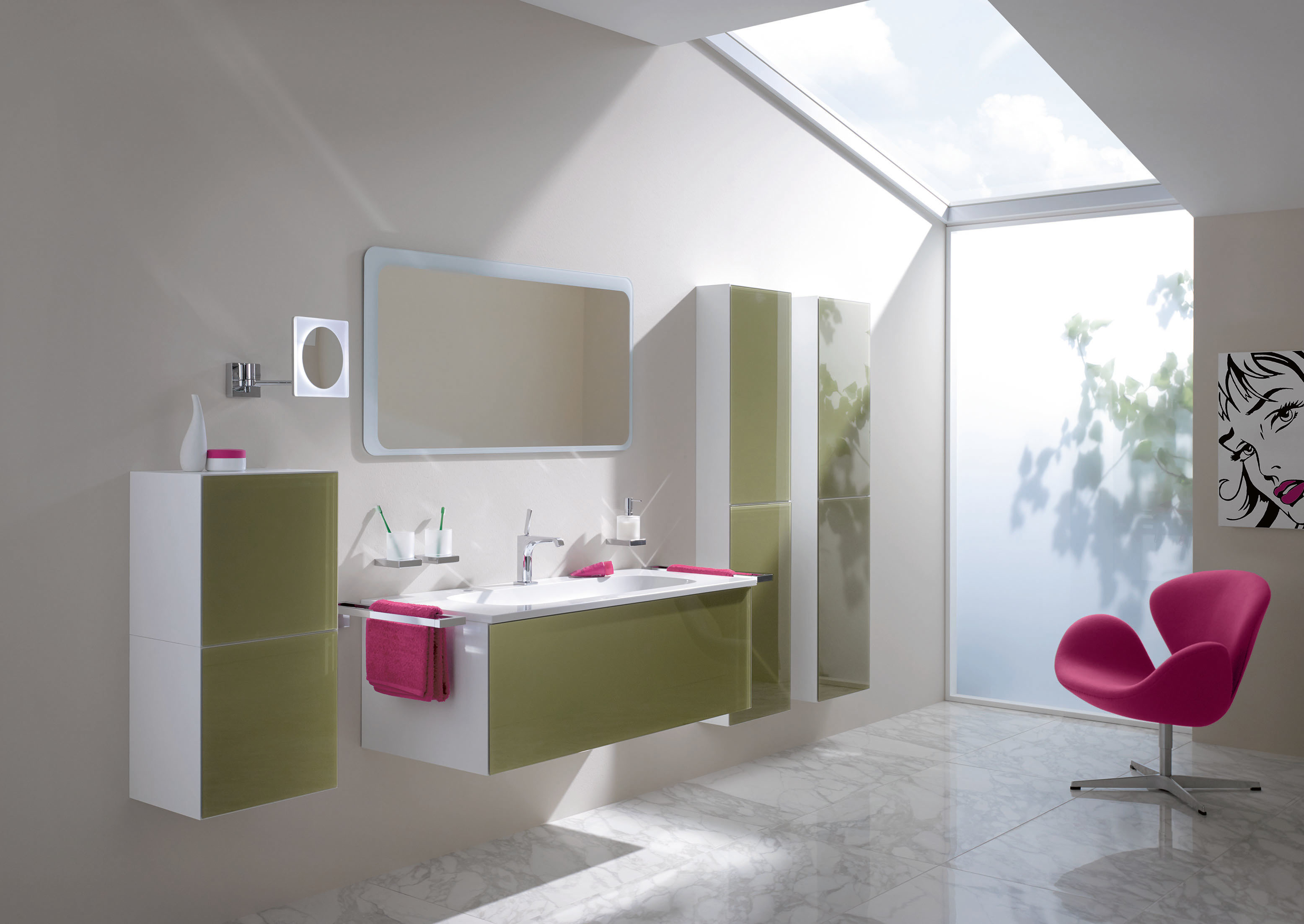 schrank modul 120 30 anschlag rechts glasfront aqua von hewi stylepark. Black Bedroom Furniture Sets. Home Design Ideas