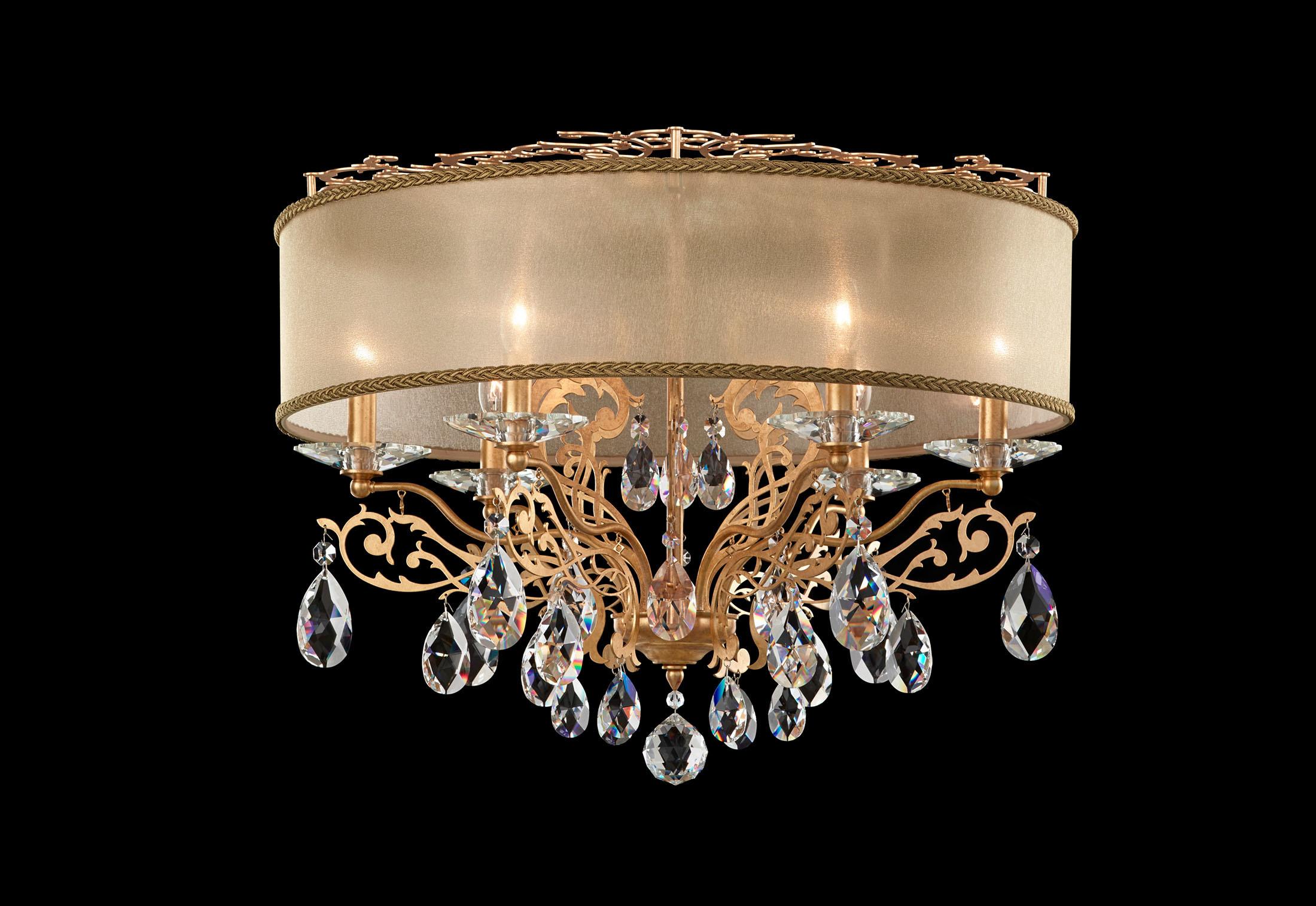 Kronleuchter Mit Lampenschirm ~ Filigrae kronleuchter lampenschirm von swarovski lighting stylepark