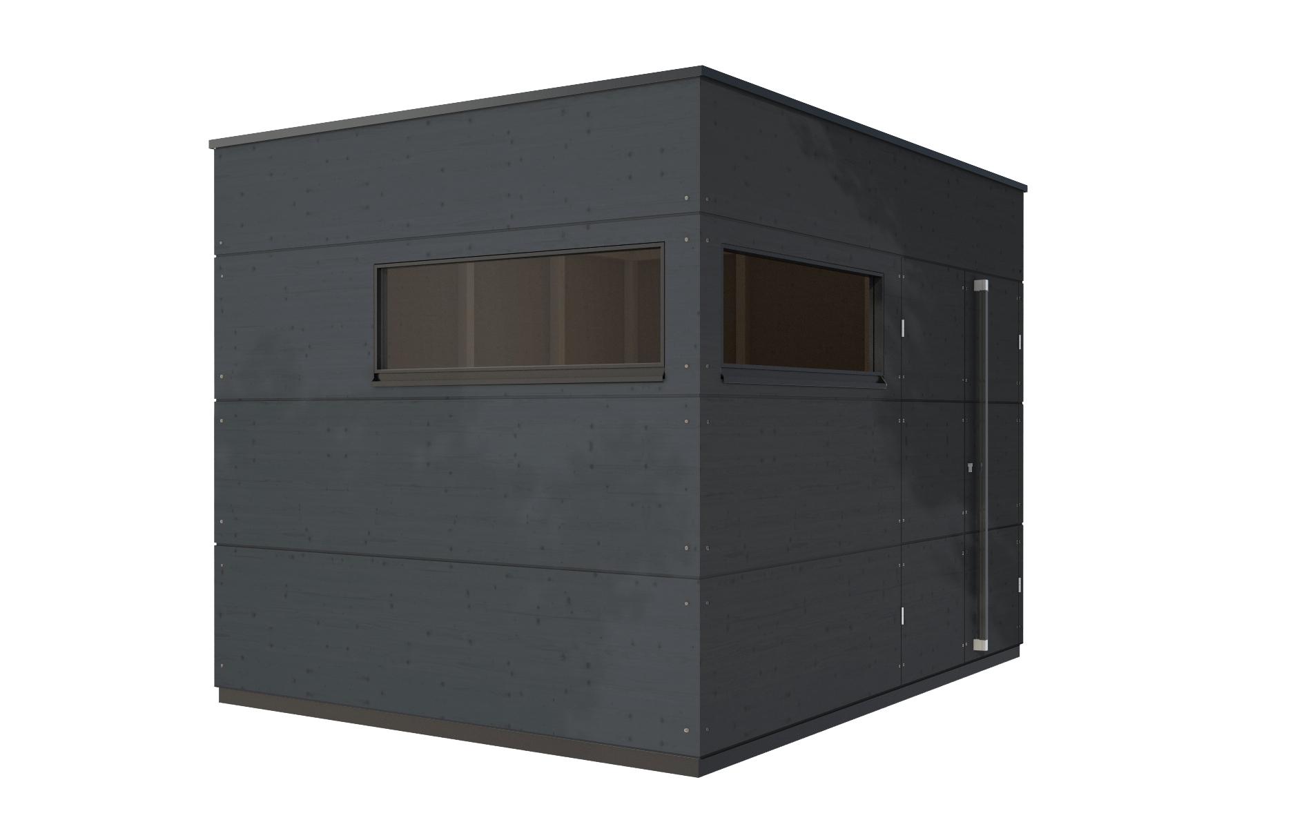 gartenhaus flachdach l von gartana stylepark. Black Bedroom Furniture Sets. Home Design Ideas