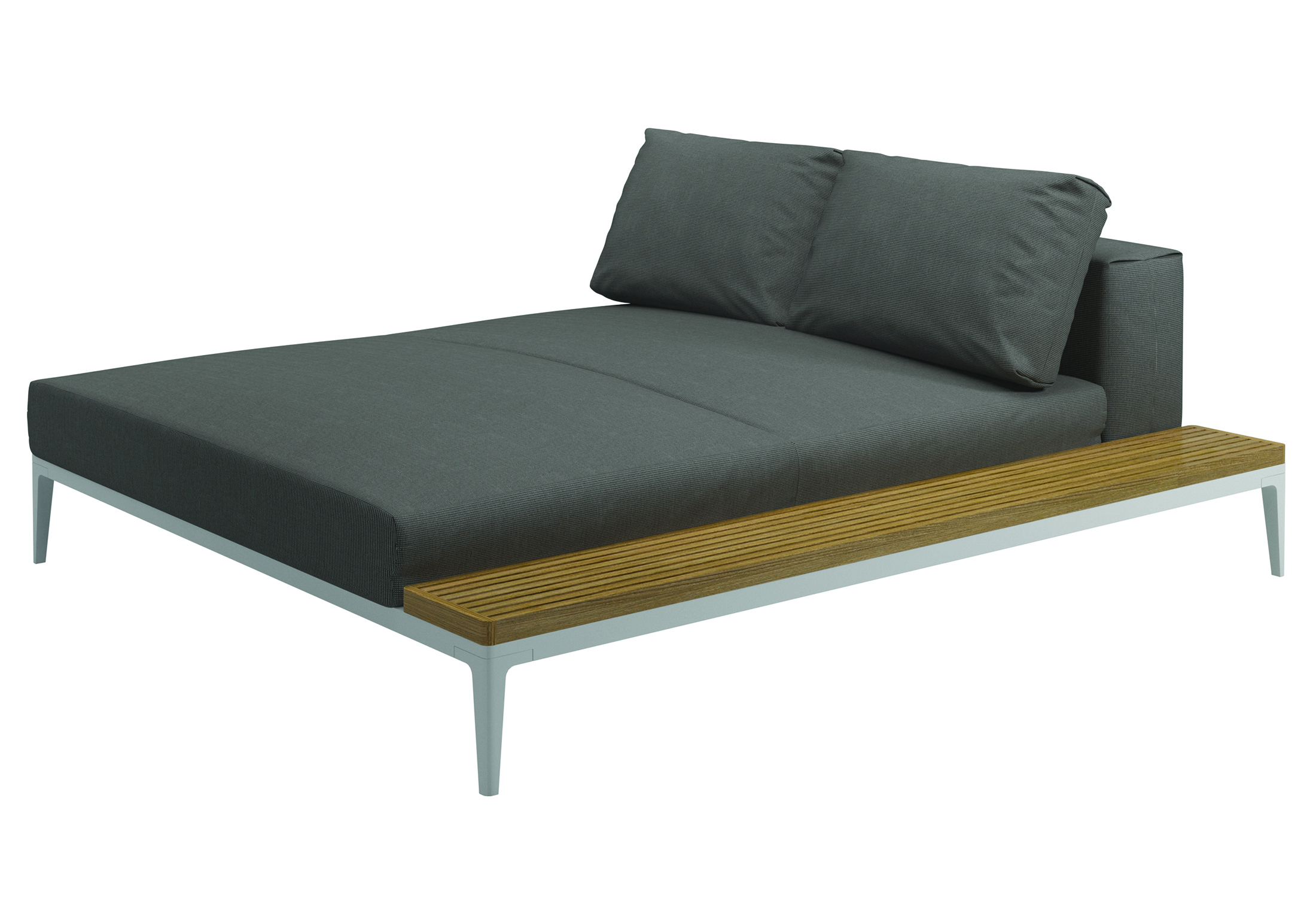 Grid chaise longue left right by gloster furniture stylepark for Chaise longue furniture