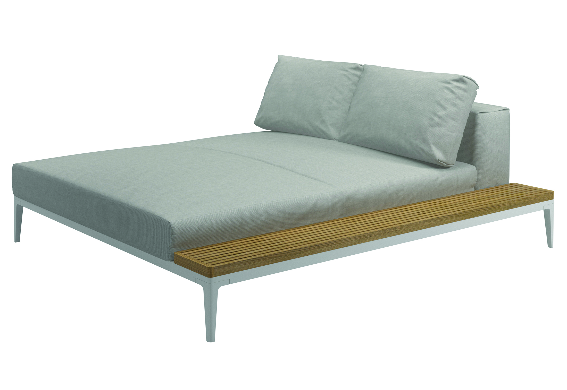 Grid chaise longue left right by gloster furniture stylepark for Chaise longue garden furniture