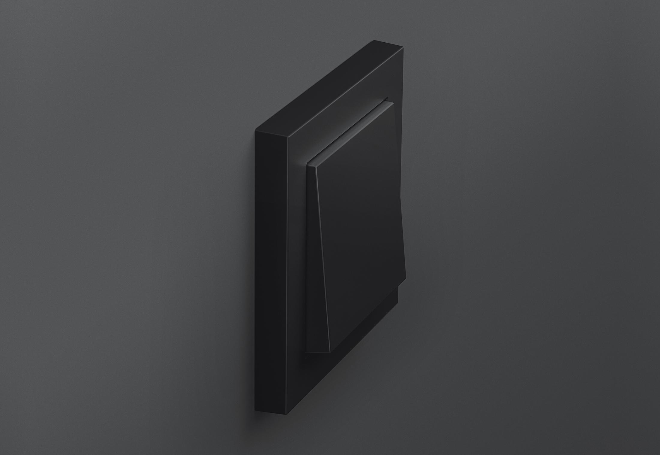 e2 schwarz matt von gira stylepark. Black Bedroom Furniture Sets. Home Design Ideas