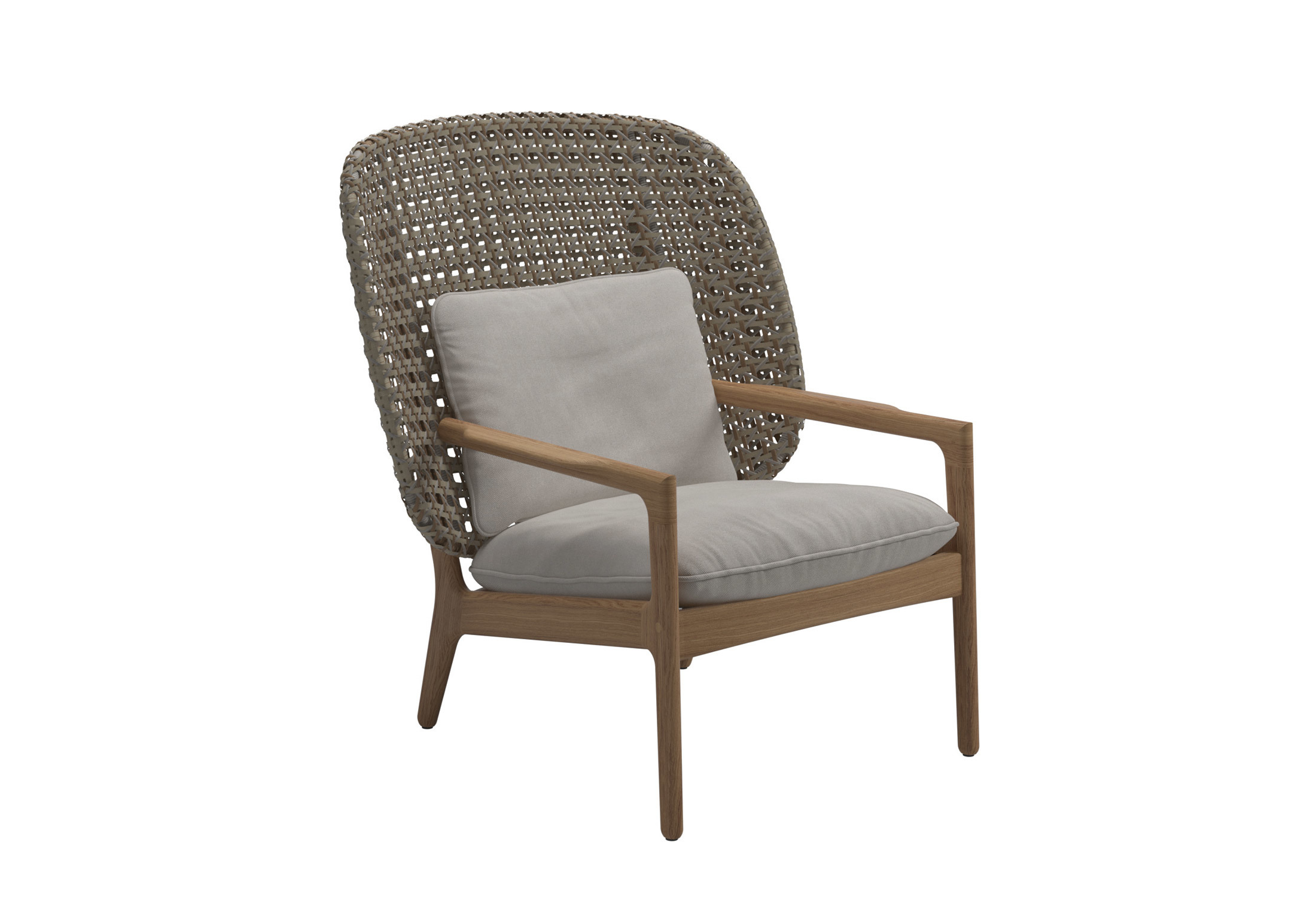Kay high back lounge chair
