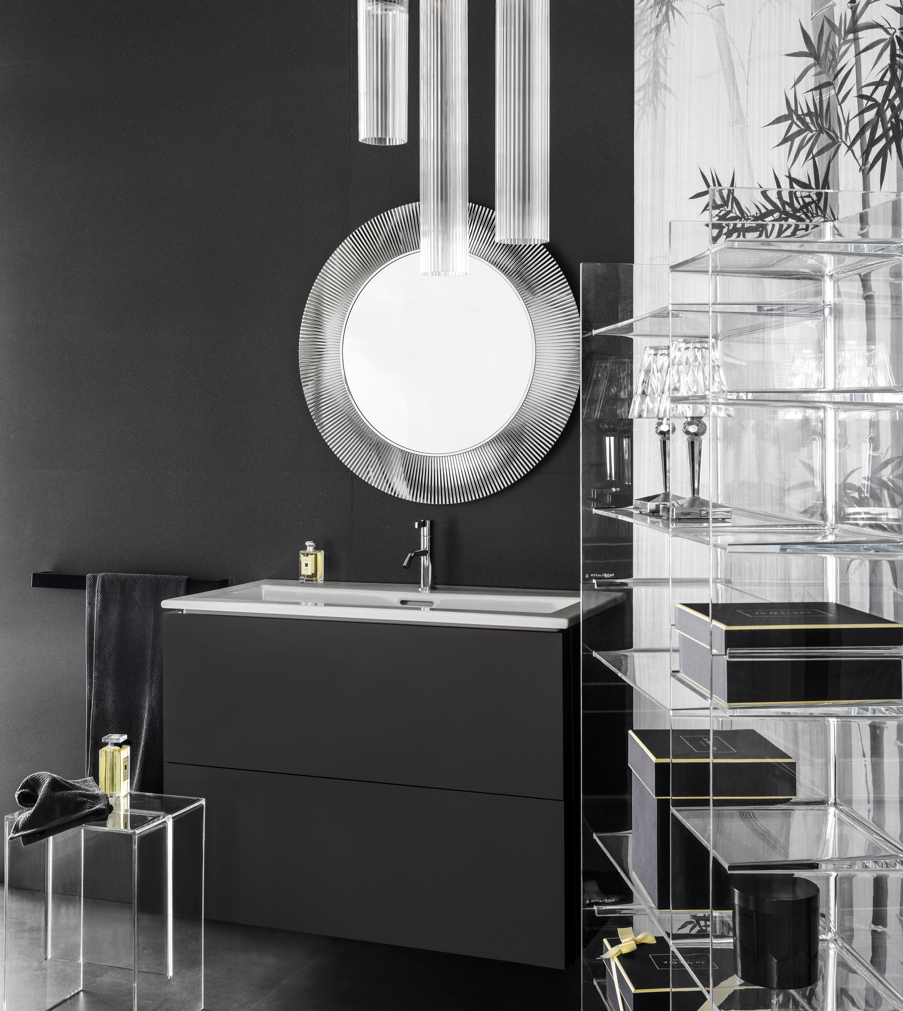 kartell by laufen vanity unit with two drawers by laufen. Black Bedroom Furniture Sets. Home Design Ideas