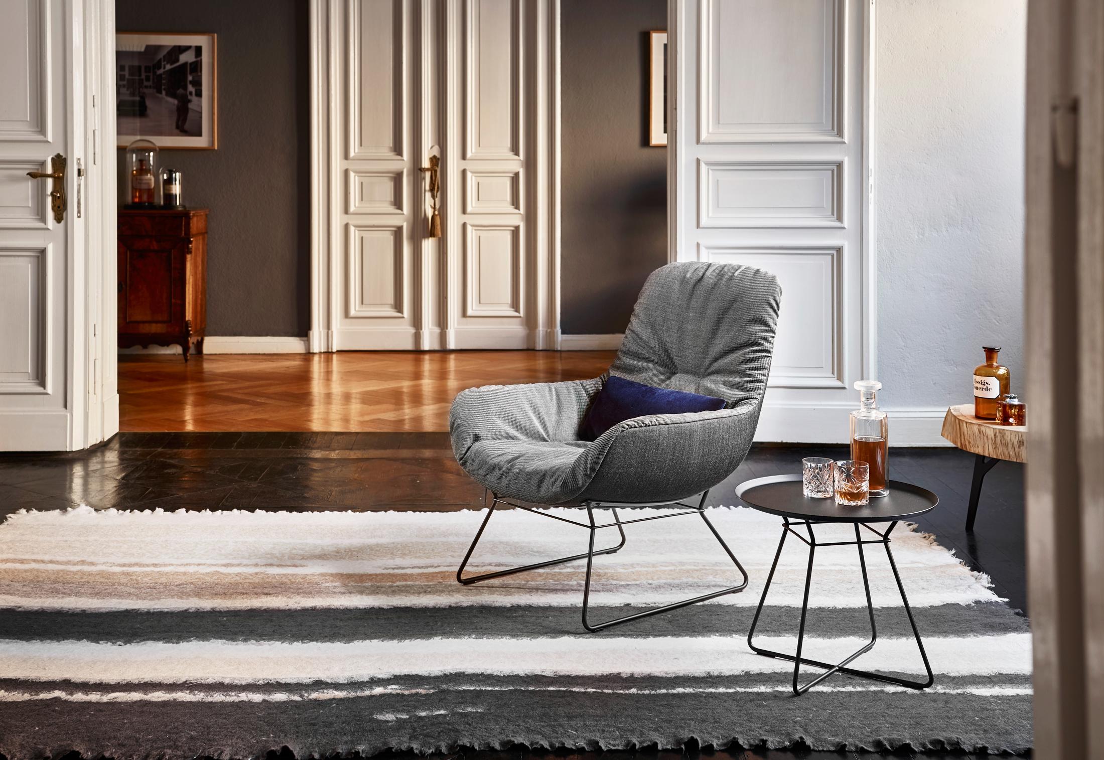 Leya Lounge Chair Mit Drahtgestell Von Freifrau Stylepark