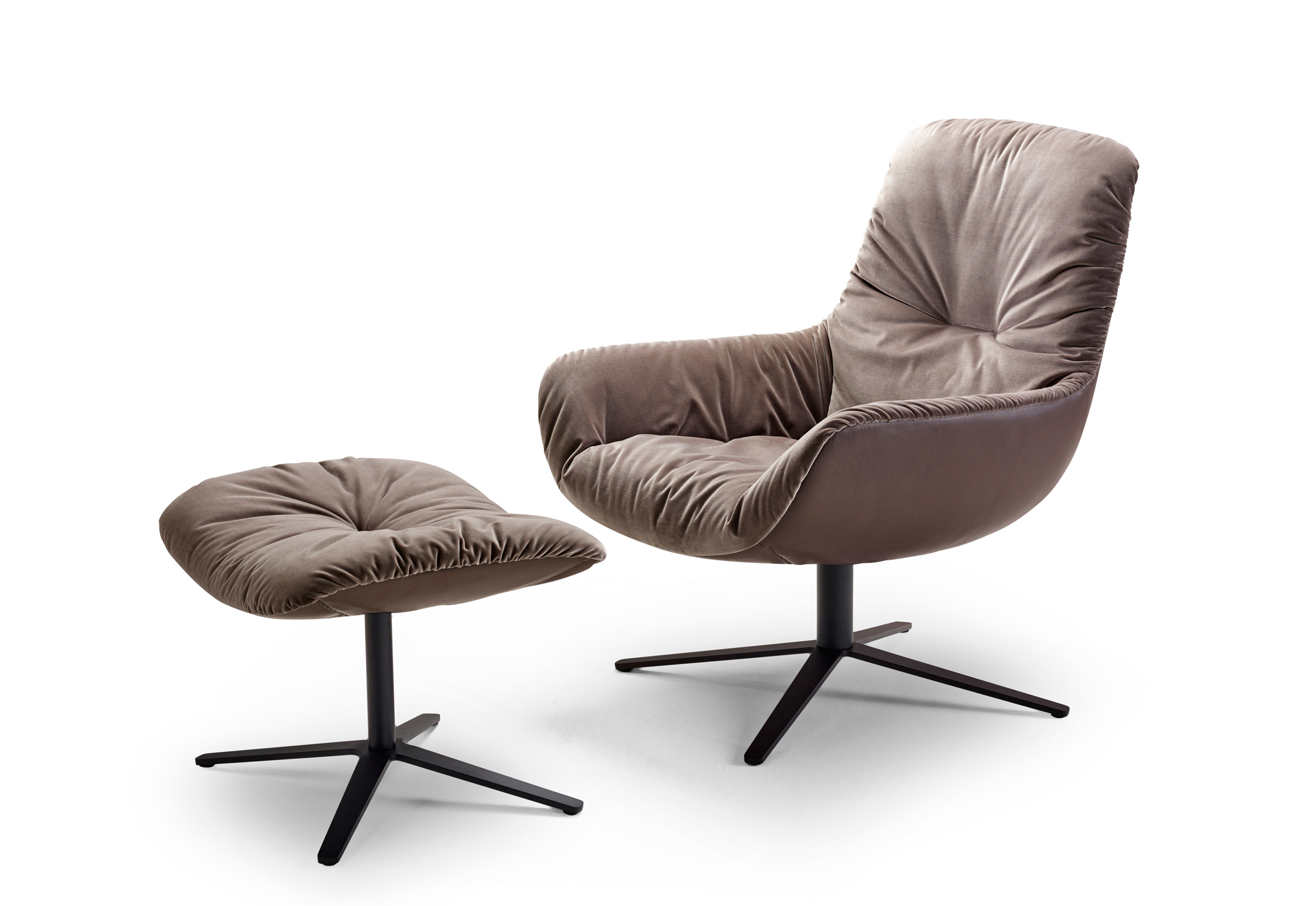 Surprising Leya Lounge Chair With X Base Frame By Freifrau Stylepark Cjindustries Chair Design For Home Cjindustriesco