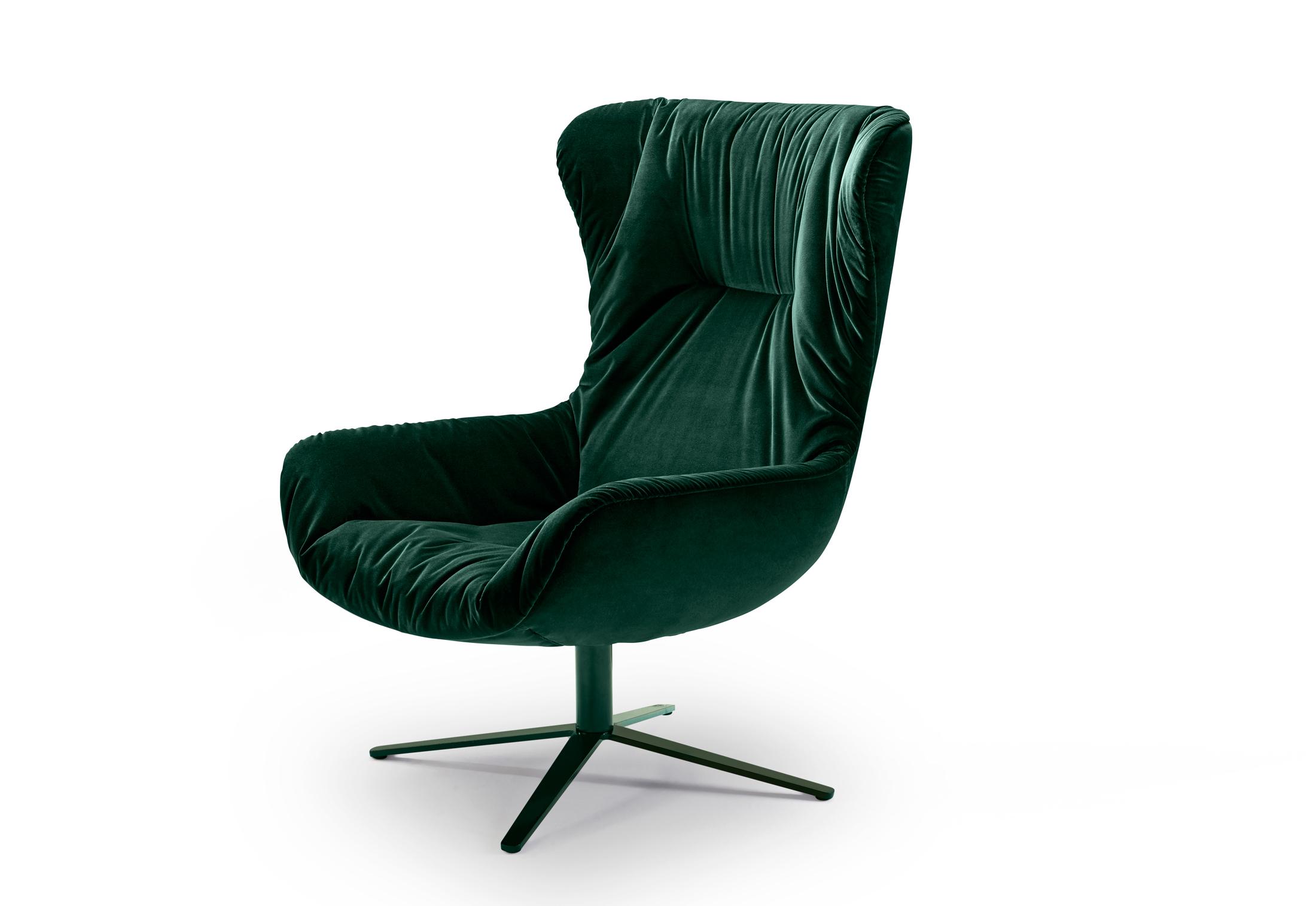 Leya Wingback Chair With X Base Frame By Freifrau Stylepark