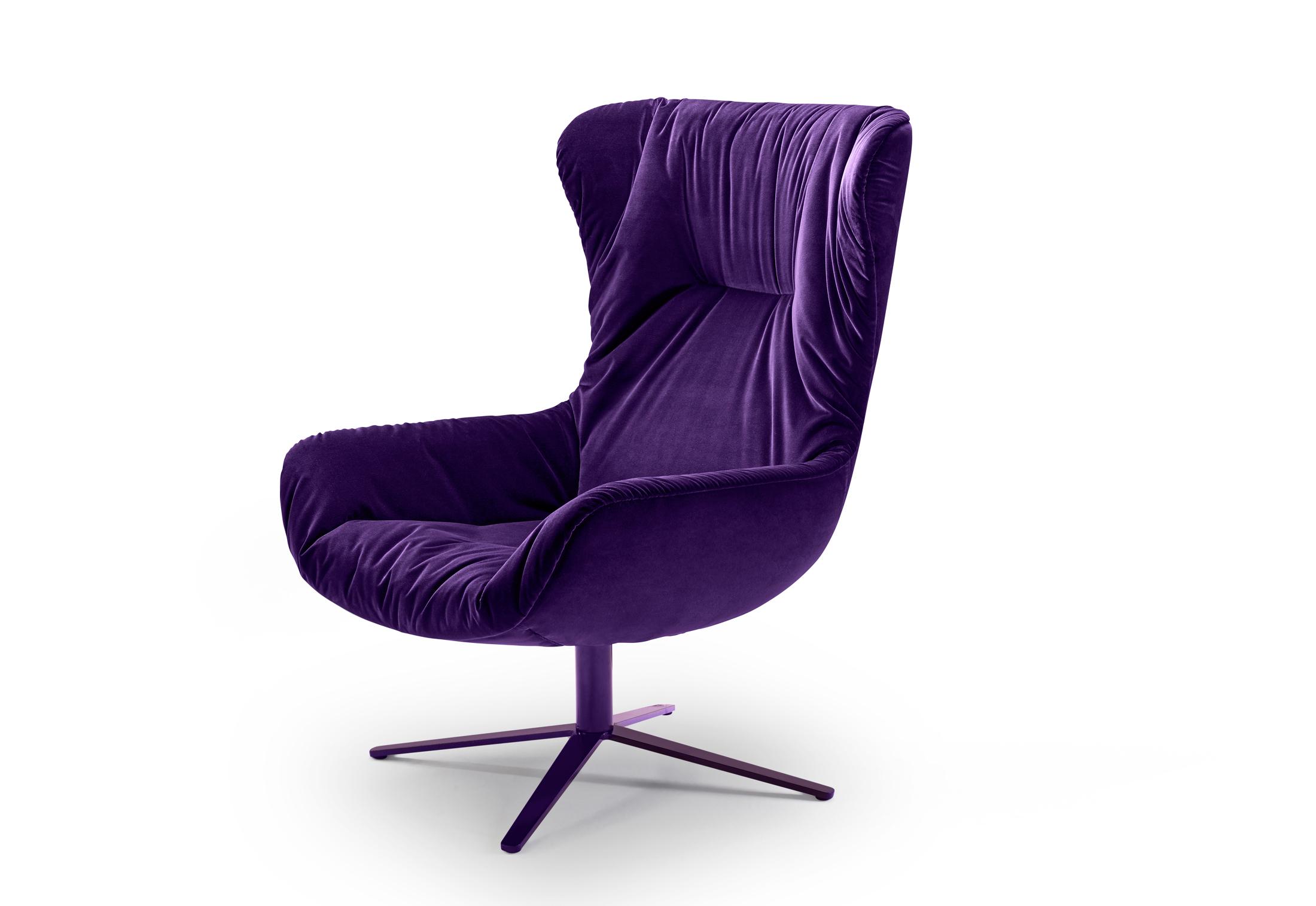 Leya wingback chair with x base frame by Freifrau