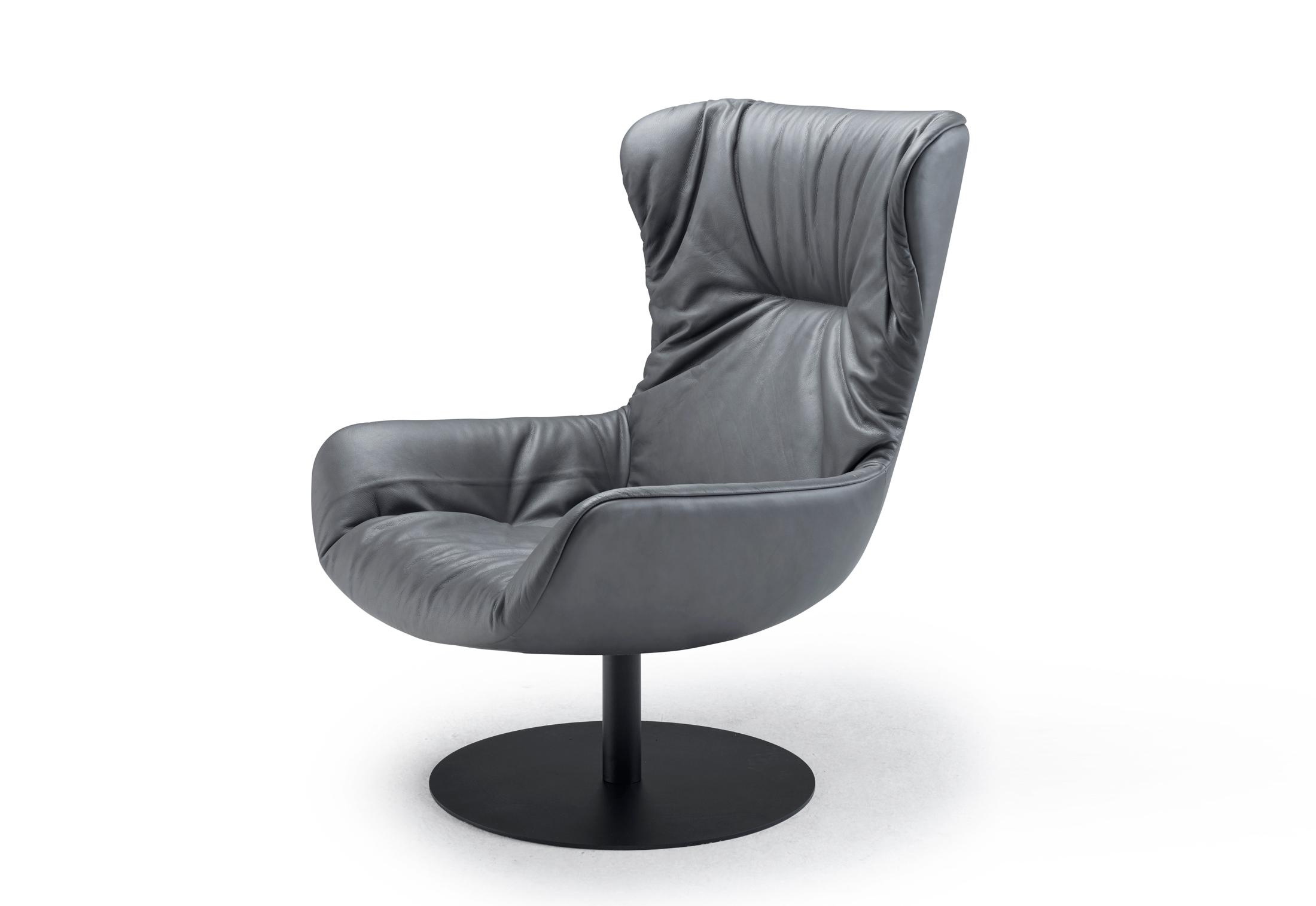Leya Wingback Chair With Central Leg By Freifrau Stylepark
