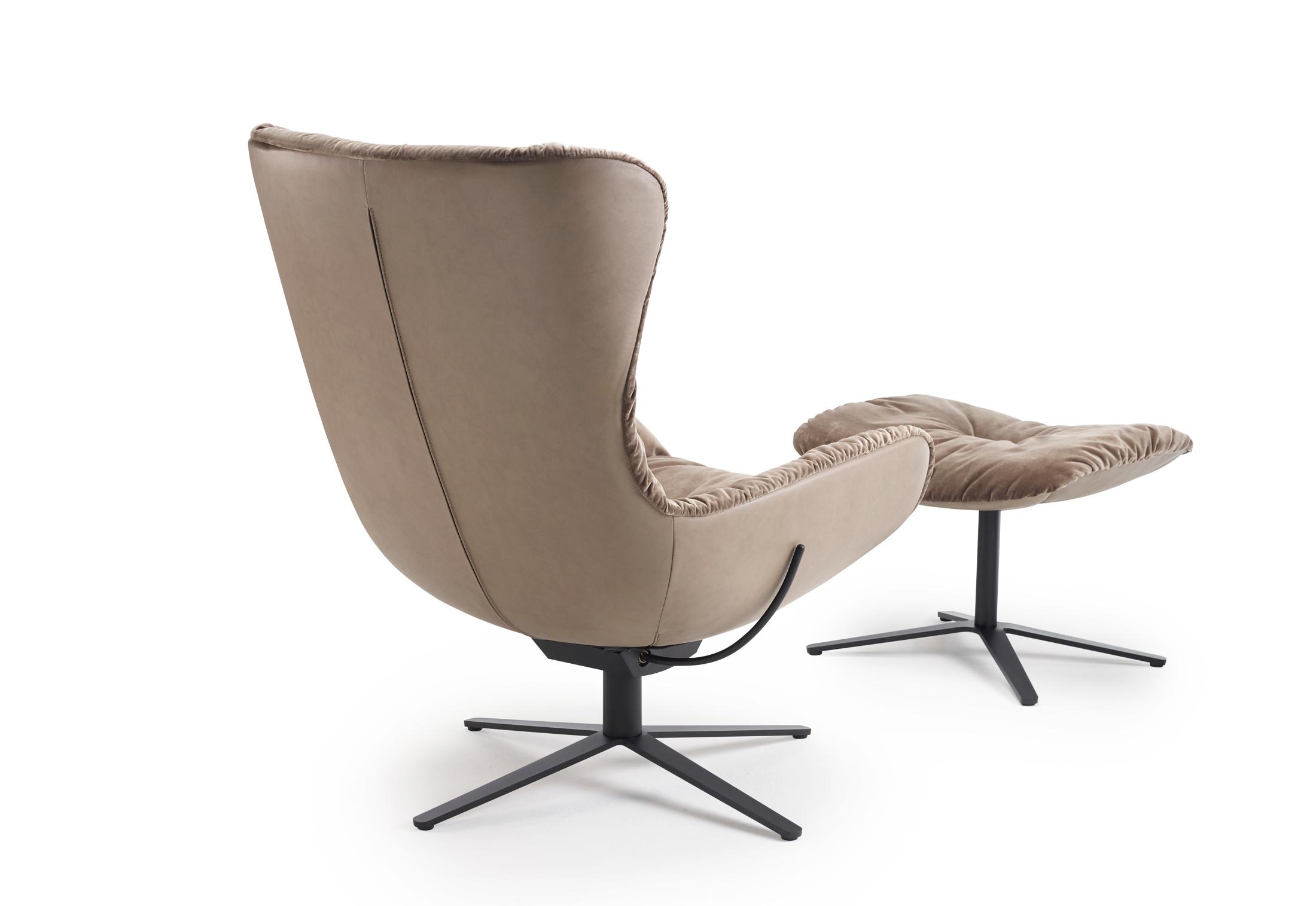 Leya Wingback Chair With Rocker Tilt Mechanism And X Base