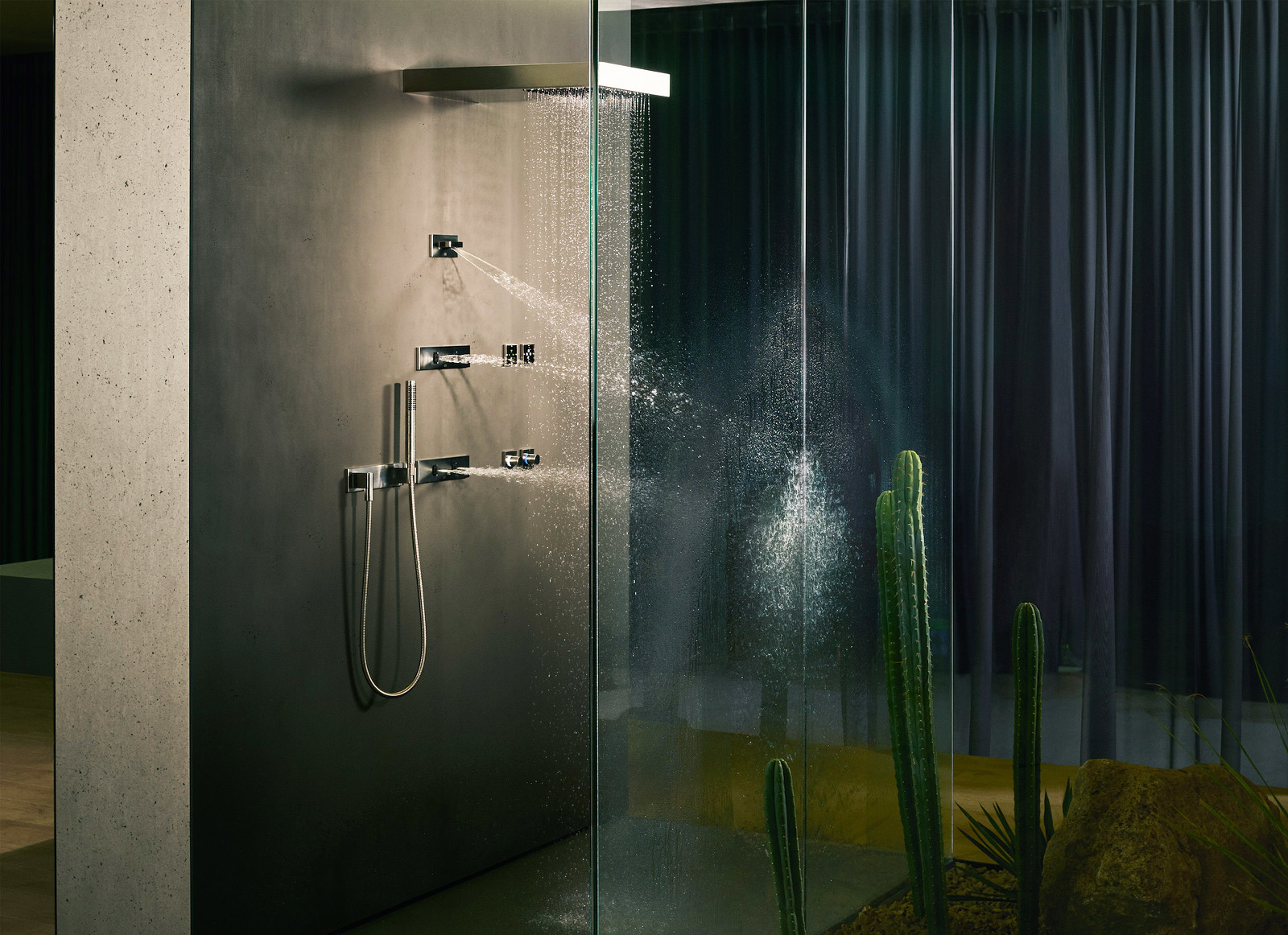 water fan concealed body spray by dornbracht stylepark. Black Bedroom Furniture Sets. Home Design Ideas