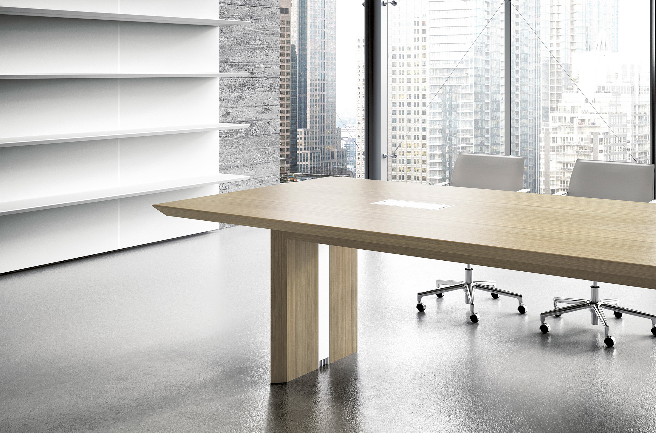 Multipliceo Modular Conference Table By Fantoni STYLEPARK - Grey conference table