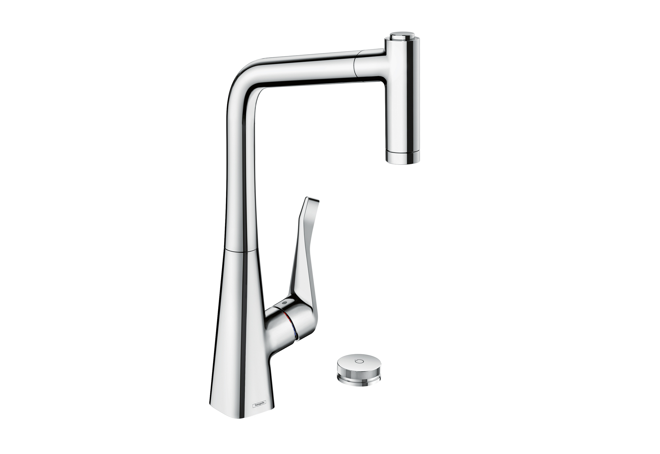 metris select single lever kitchen mixer with pull out spout by hansgrohe stylepark. Black Bedroom Furniture Sets. Home Design Ideas