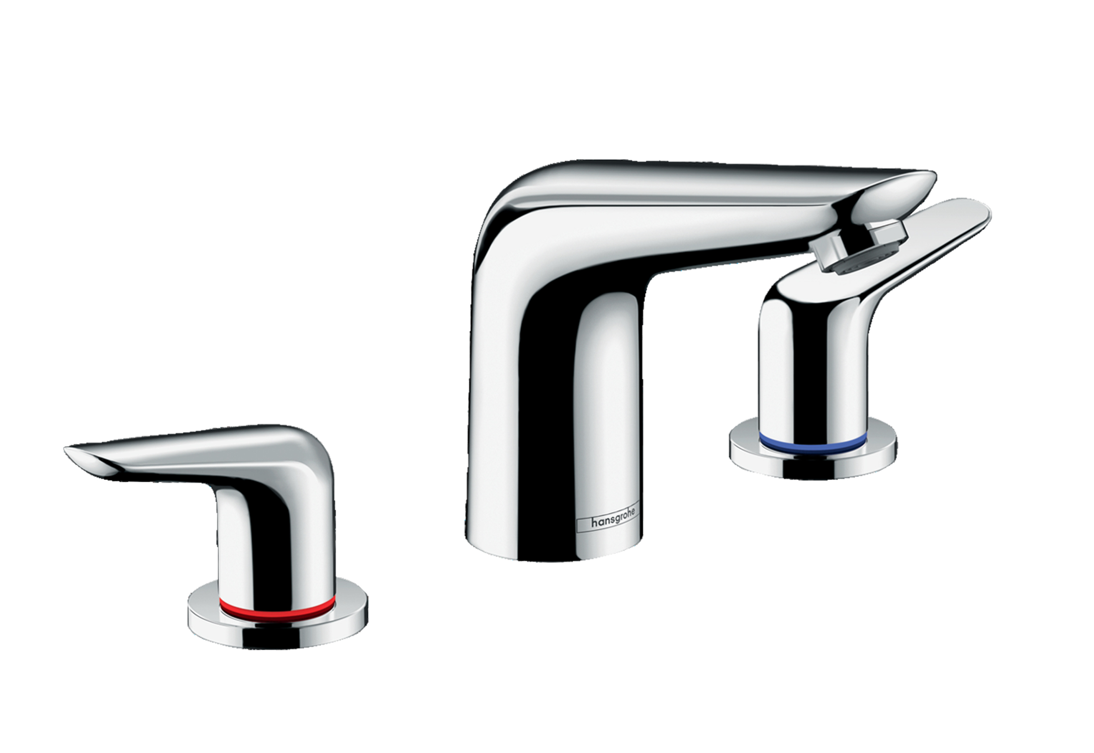 Novus 3-hole basin mixer 100 with pop-up waste set by Hansgrohe ...