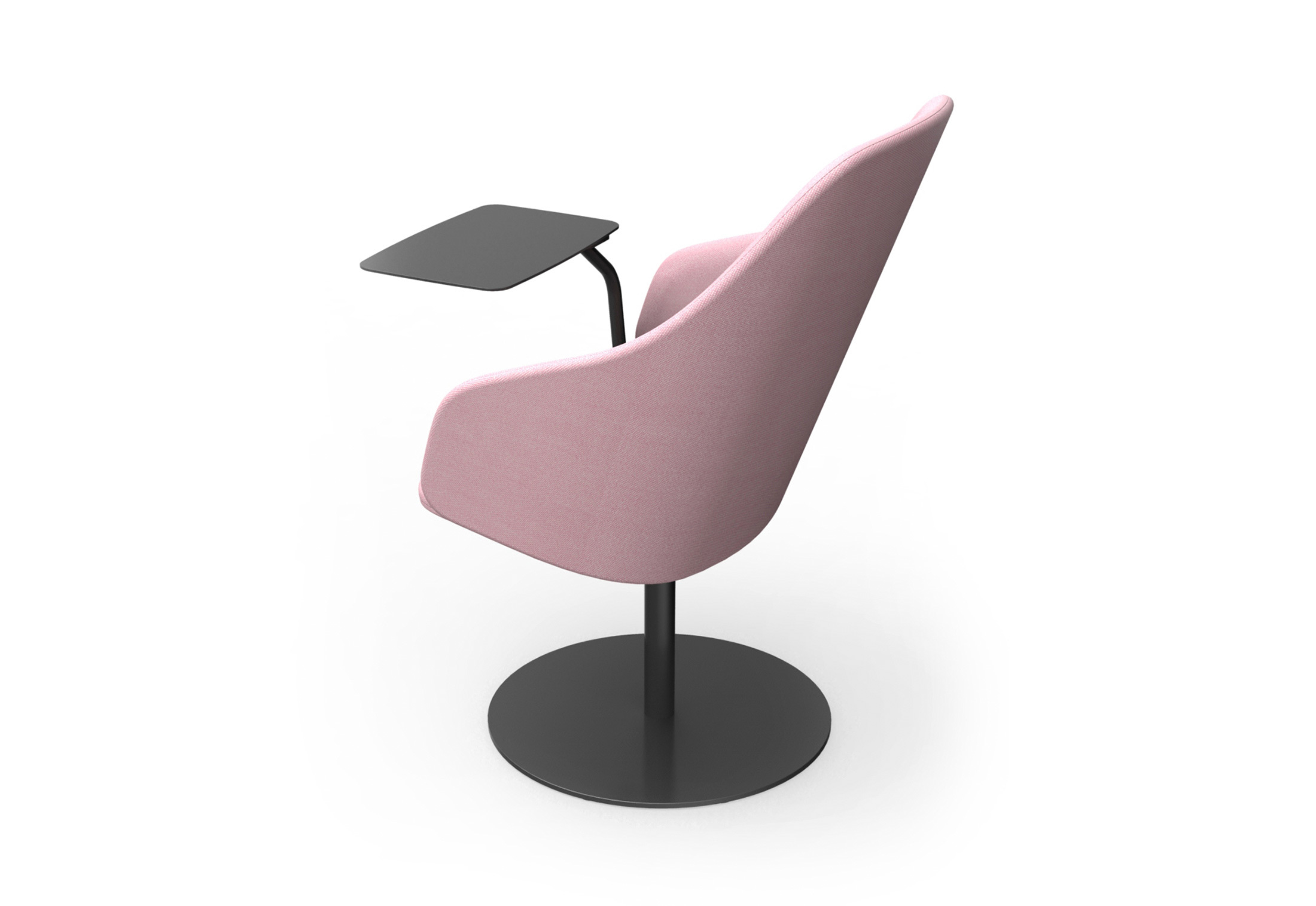 Sola Lounge Chair With Armrests And Swivel Disc Base By