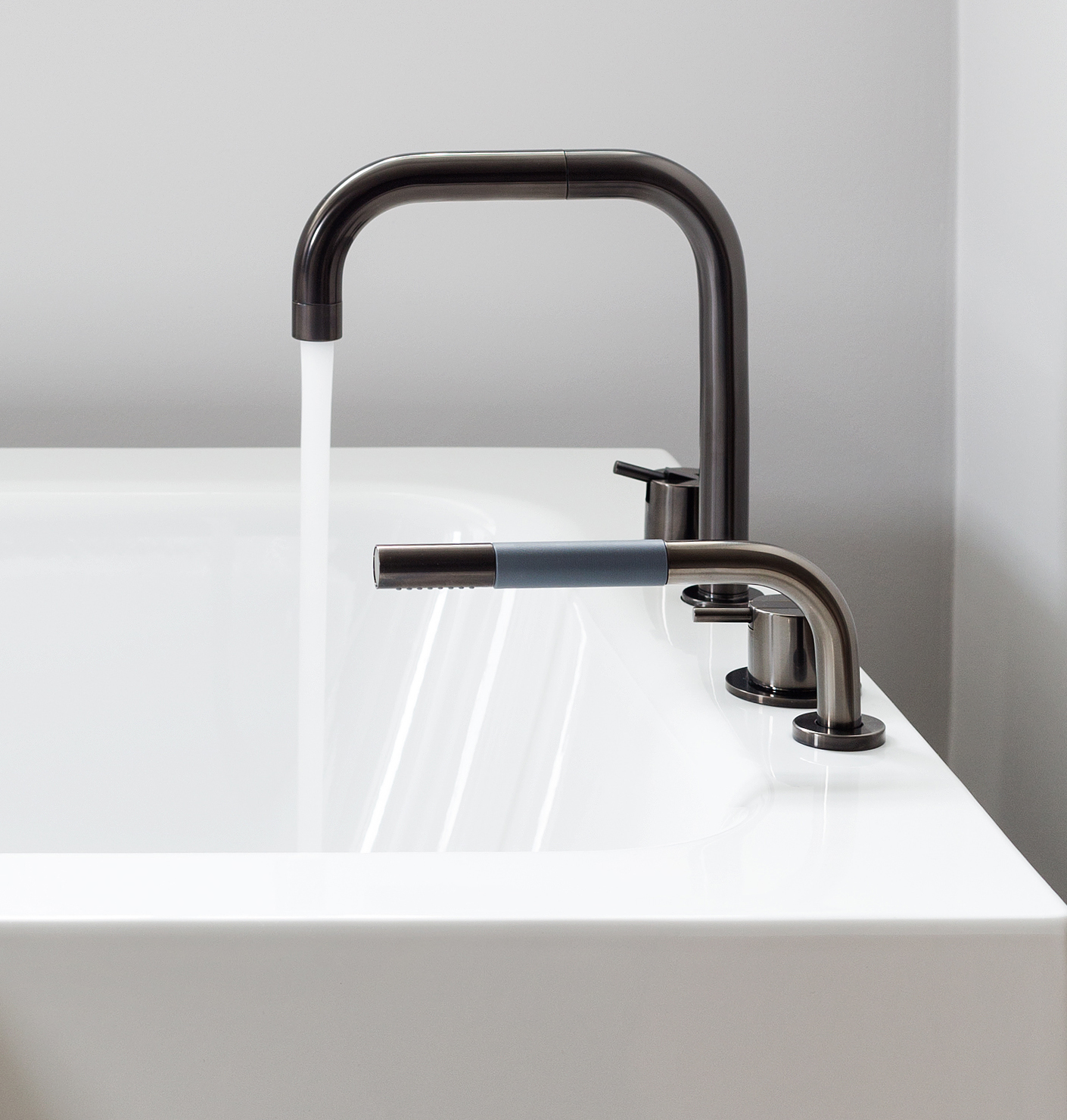 vola mixers with pvd surfaces set the tone in the new b