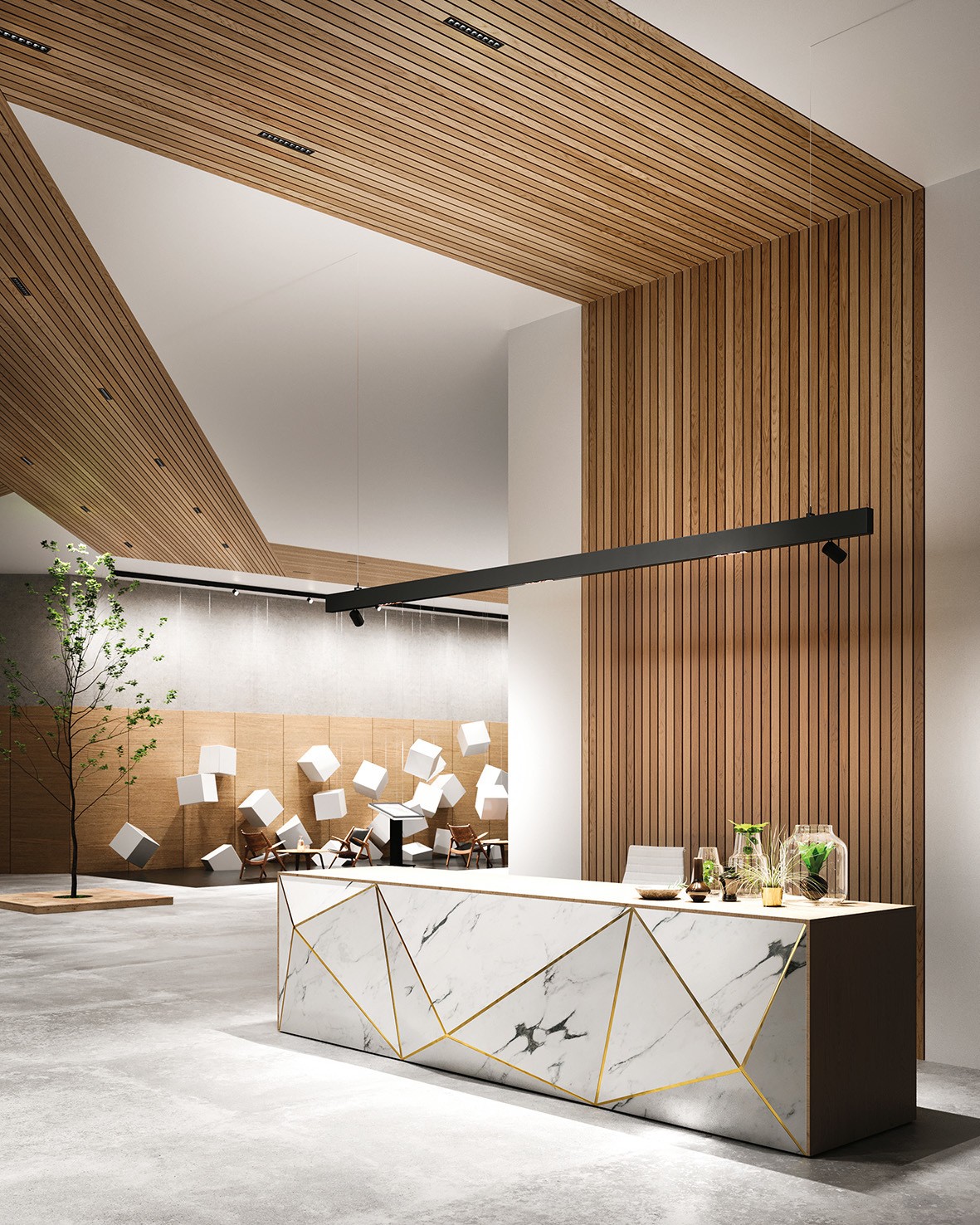 zumtobel chair architectural area lighting | Zumtobel: Integration of a lighting solution into ...