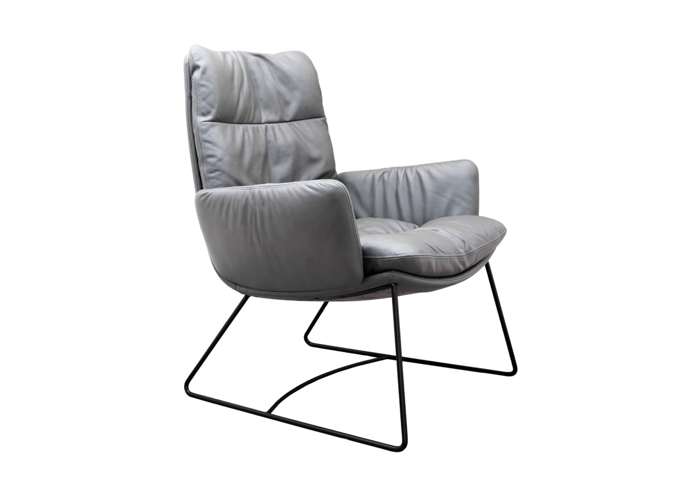 arva lounge sessel mit kufen von kff stylepark. Black Bedroom Furniture Sets. Home Design Ideas