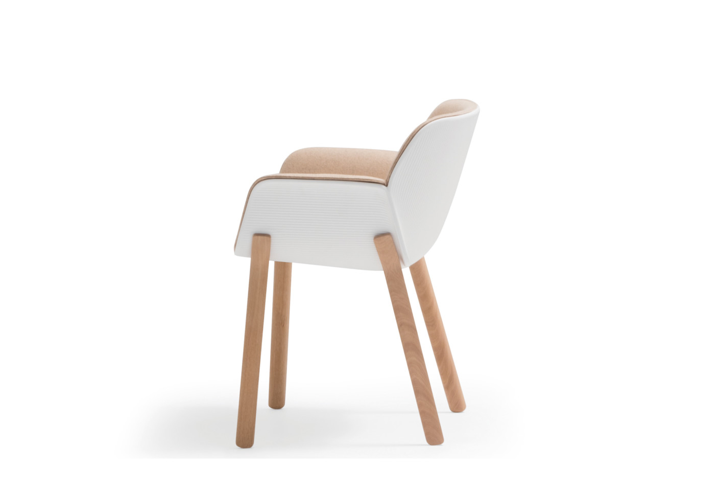 Nuez Chair Wooden Base By Andreu World Stylepark