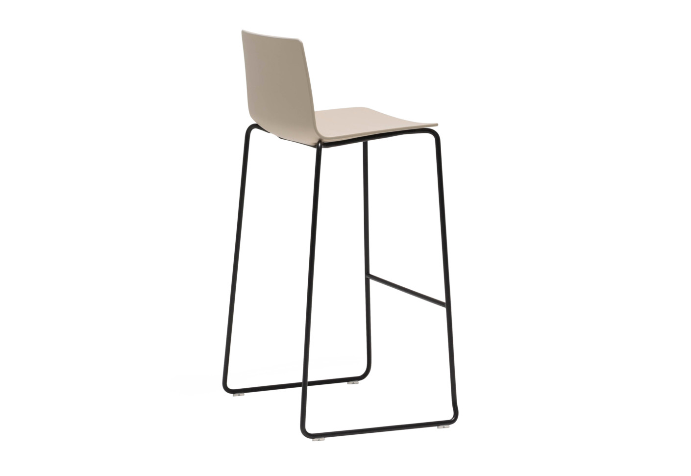 flex stool with sled base by andreu world