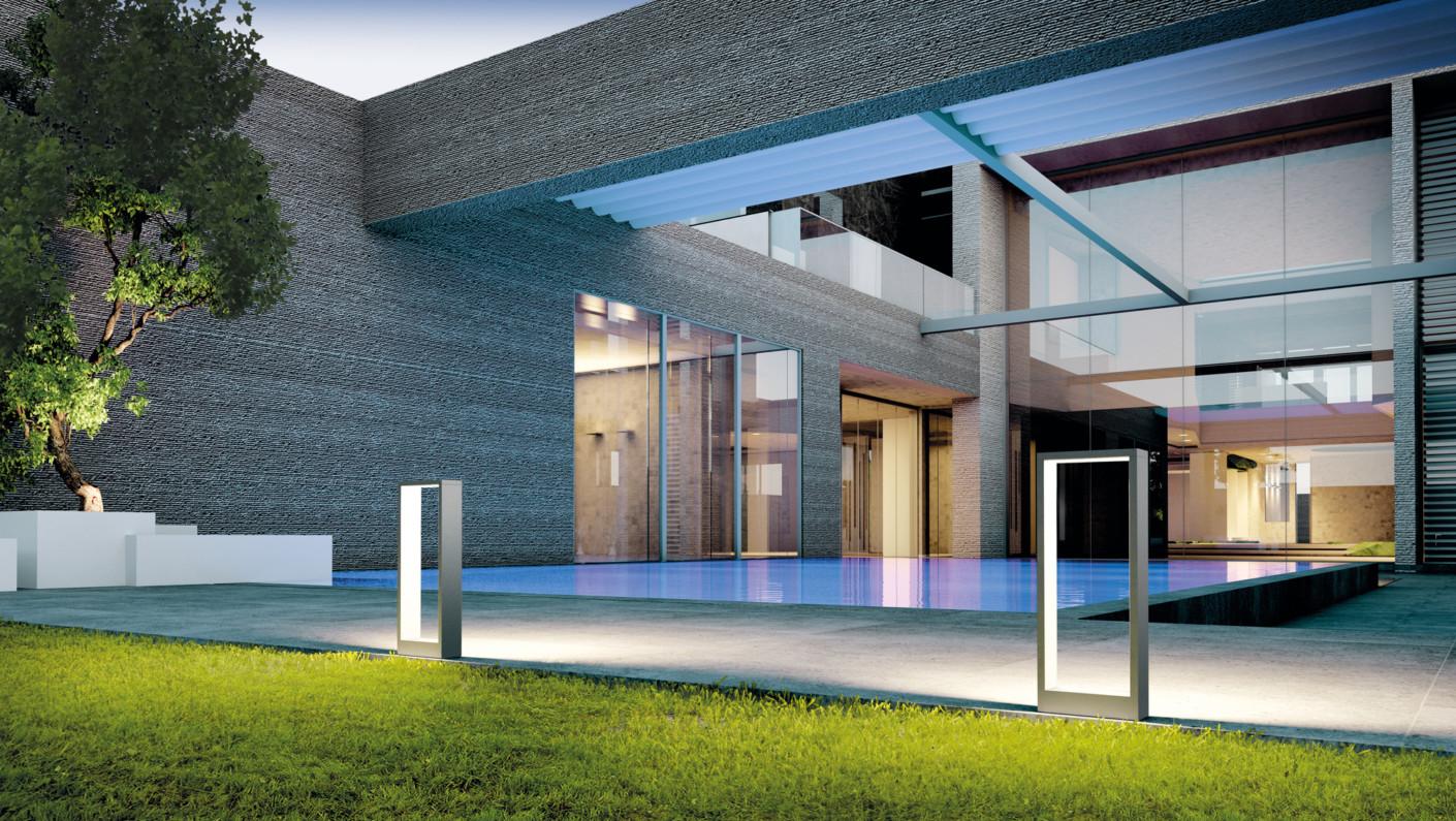 Cool square long von simes stylepark for Eclairage parking exterieur
