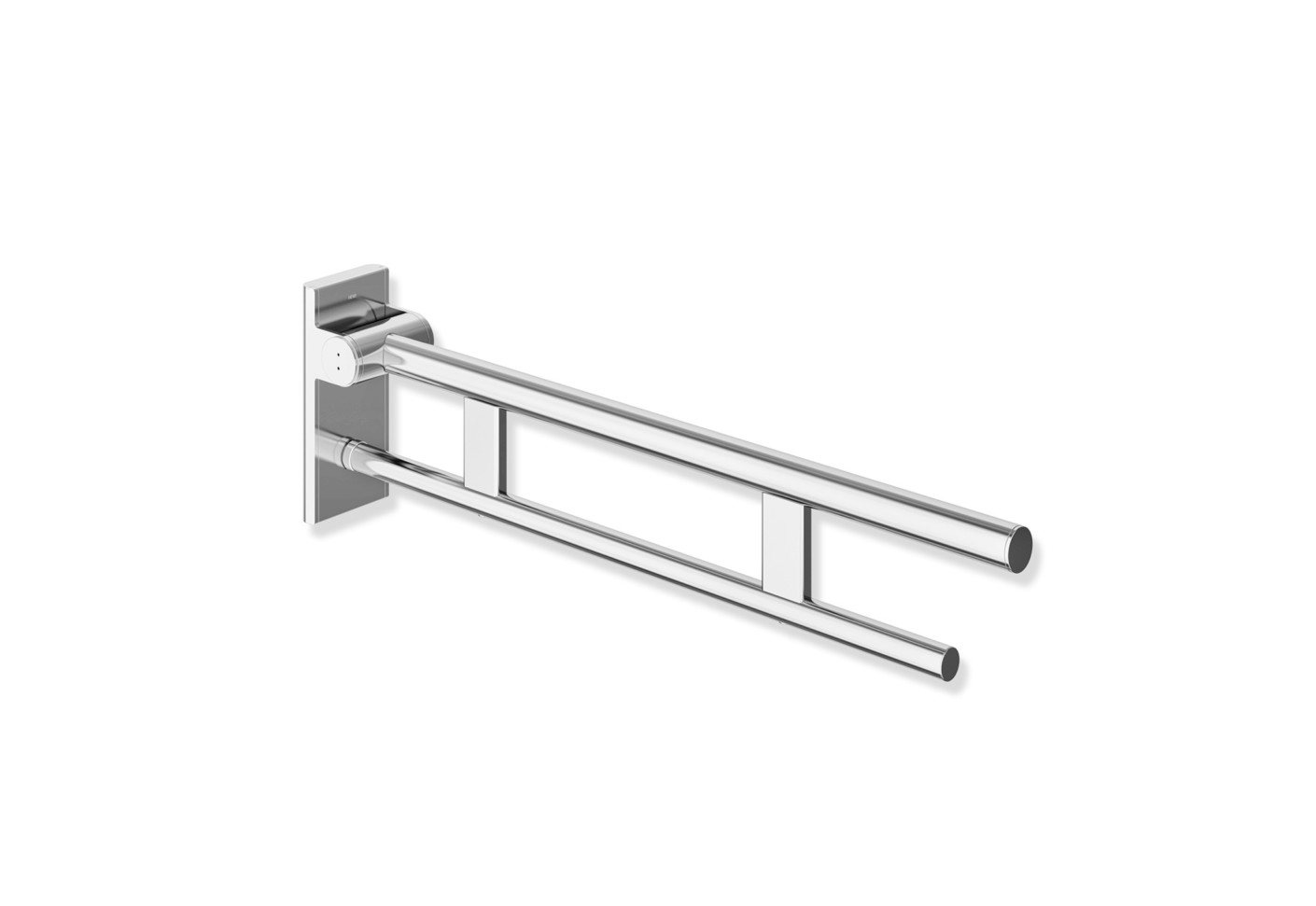hinged suppor rail duo 850 mm projection chrome by hewi