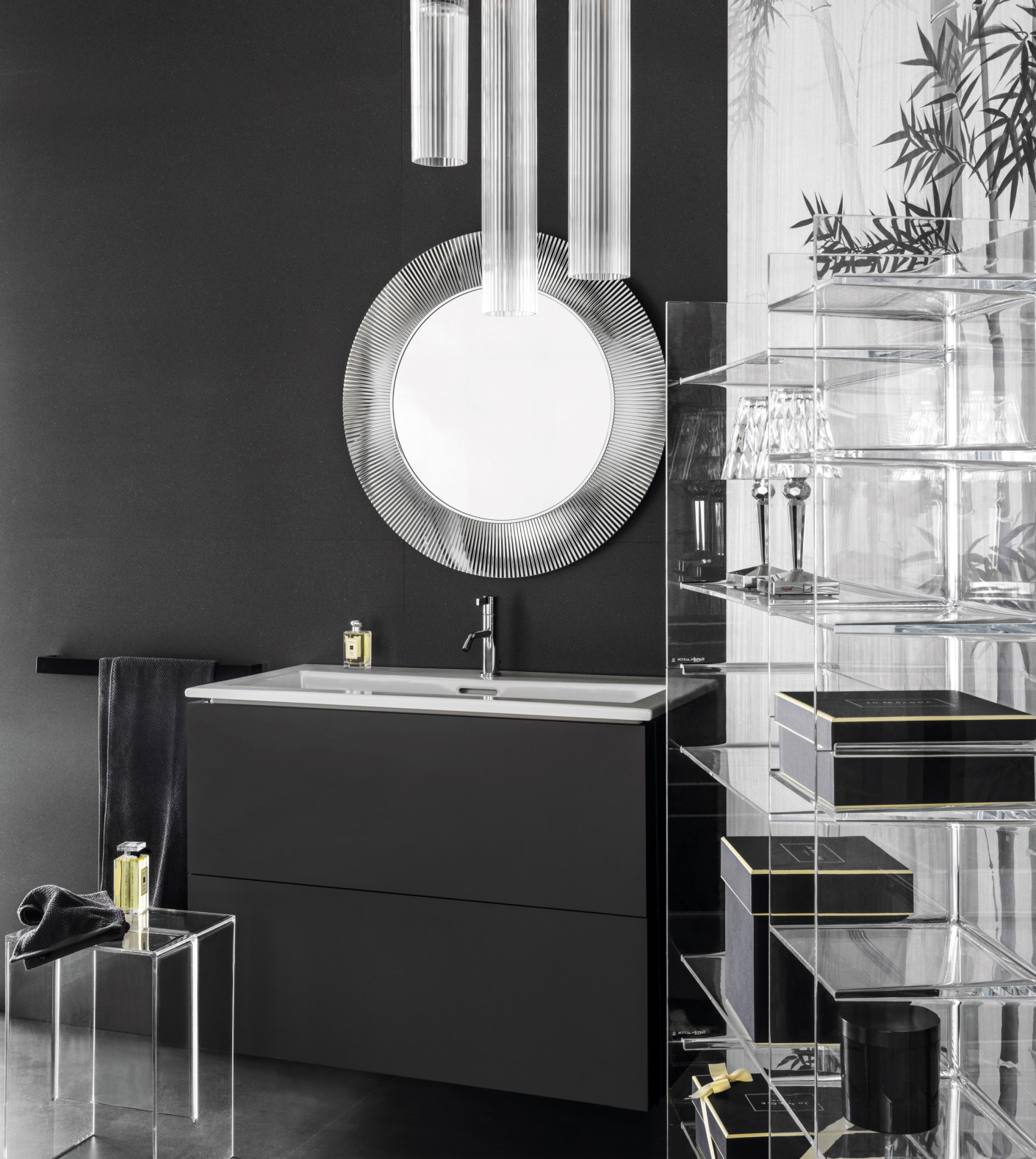 kartell by laufen build in washstand slim by laufen stylepark. Black Bedroom Furniture Sets. Home Design Ideas