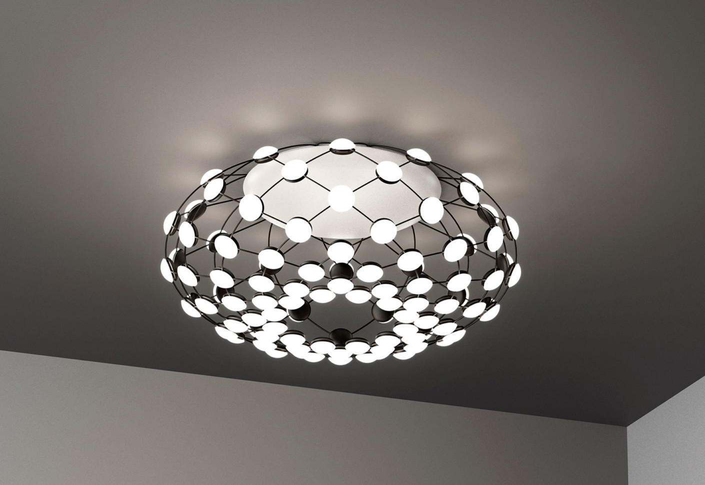 mesh ceiling lamp by luceplan stylepark. Black Bedroom Furniture Sets. Home Design Ideas