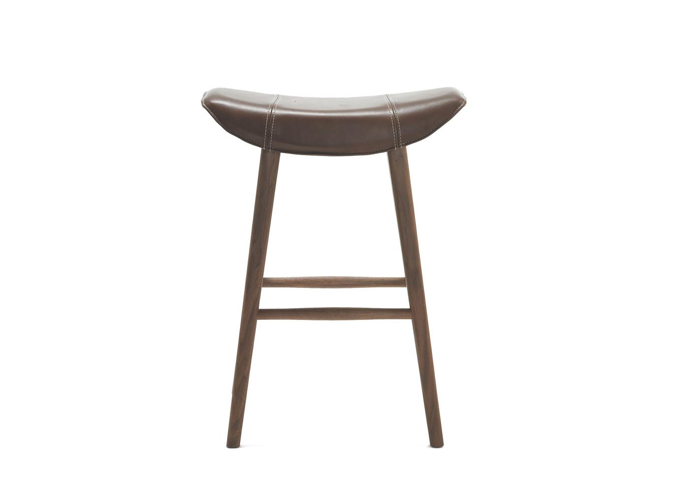 Kya kitchen stool with wooden frame by Freifrau   STYLEPARK